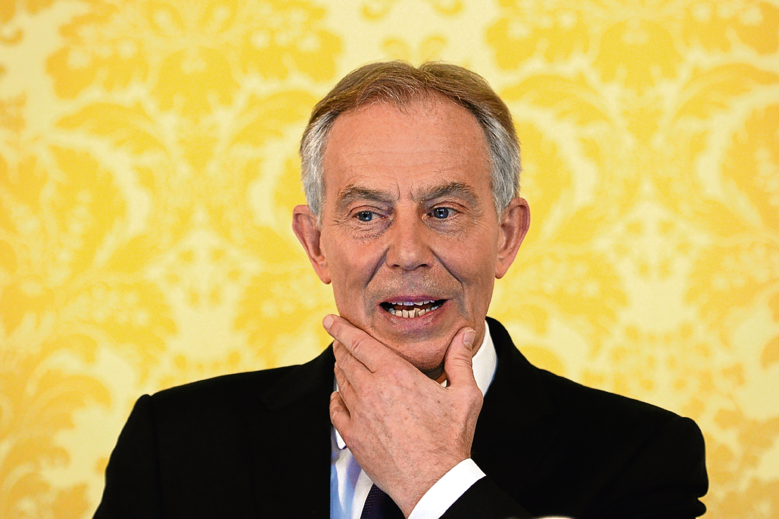 Former Prime Minister Tony Blair holds a press conference at Admiralty House, London (Stefan Rousseau/PA Wire)