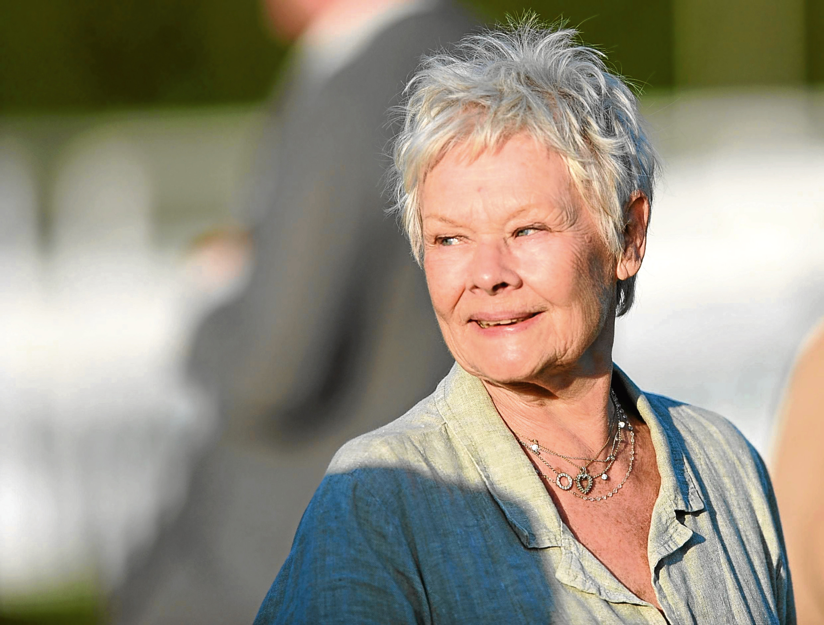 Dame Judy Dench in the parade ring during the Winter Derby Day at Lingfield Racecourse.