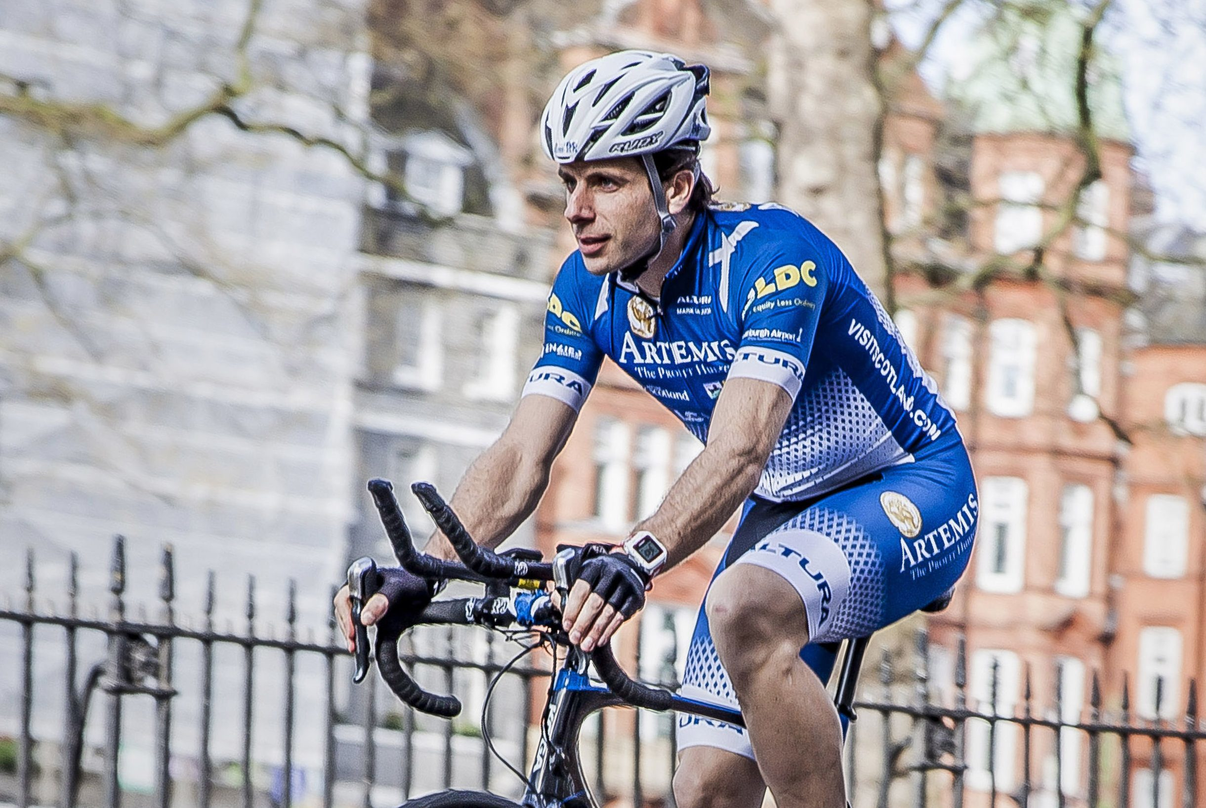 Mark Beaumont, who is on track to reach the halfway mark of his attempt to cycle around the world in record time. (Artemis World Cycle/PA Wire)