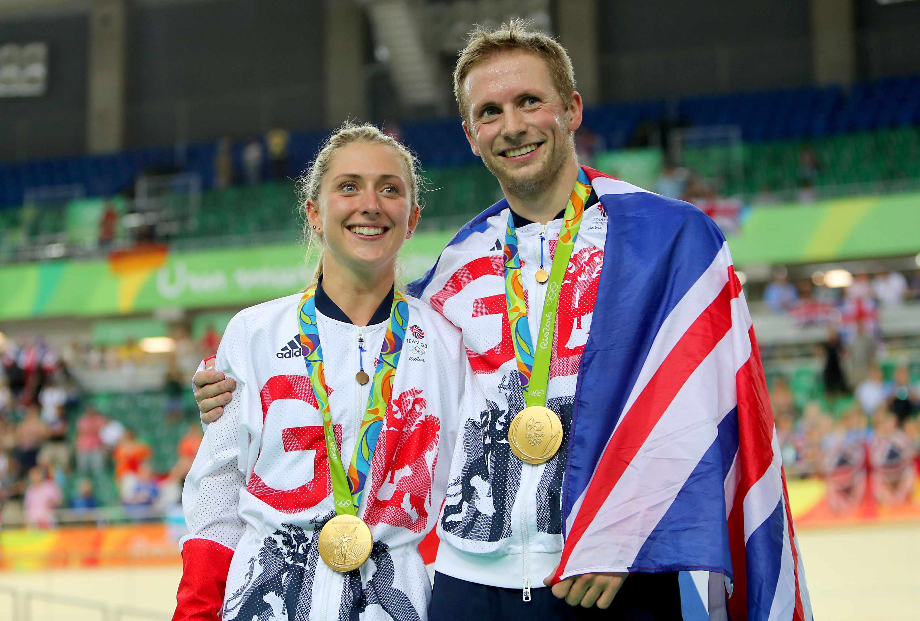 Jason Kenny and Laura Kenny, who have announced the birth of their first son (David Davies/PA Wire)