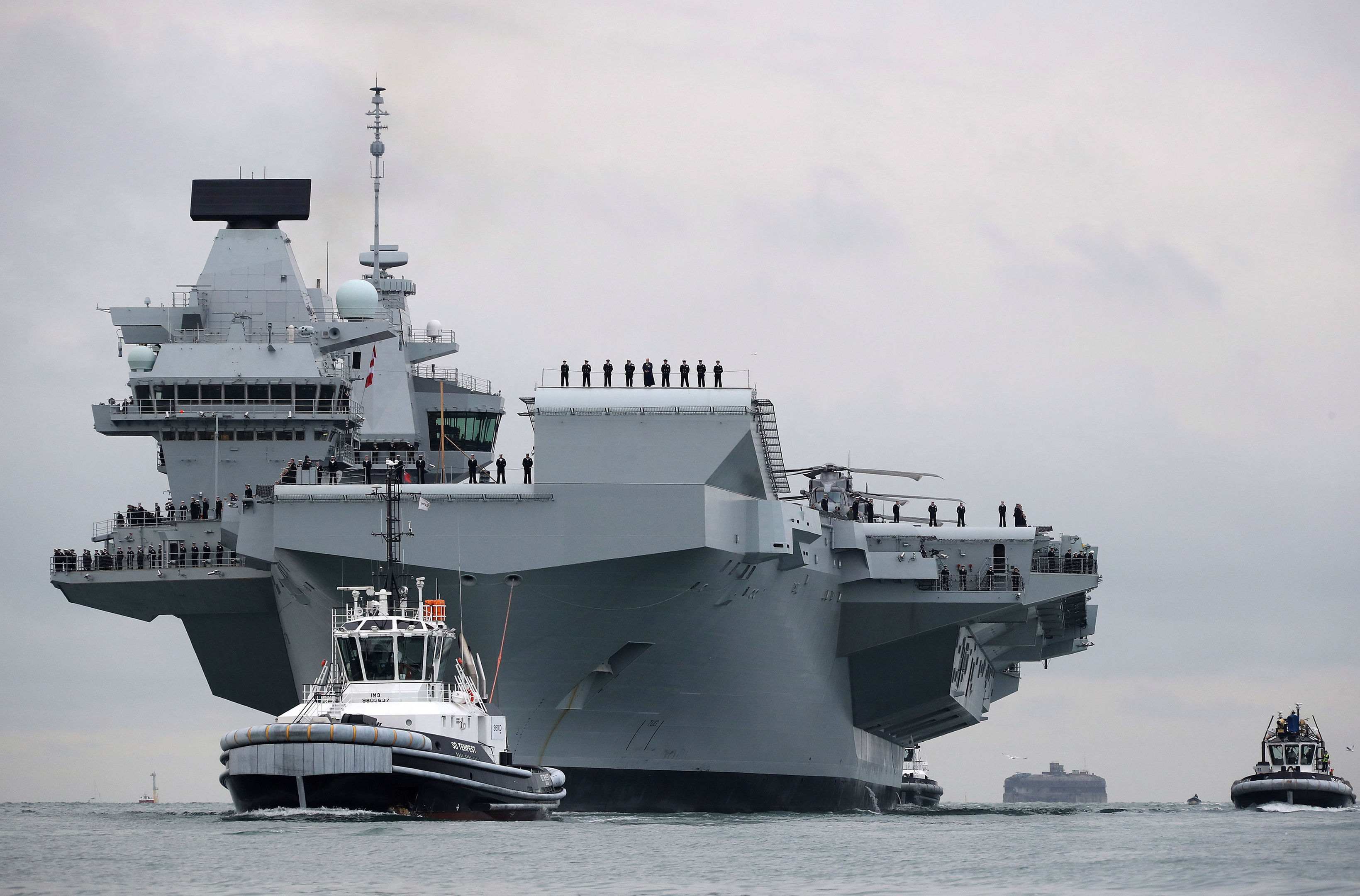 HMS Queen Elizabeth (Ian Simpson/Royal Navy/PA Wire)