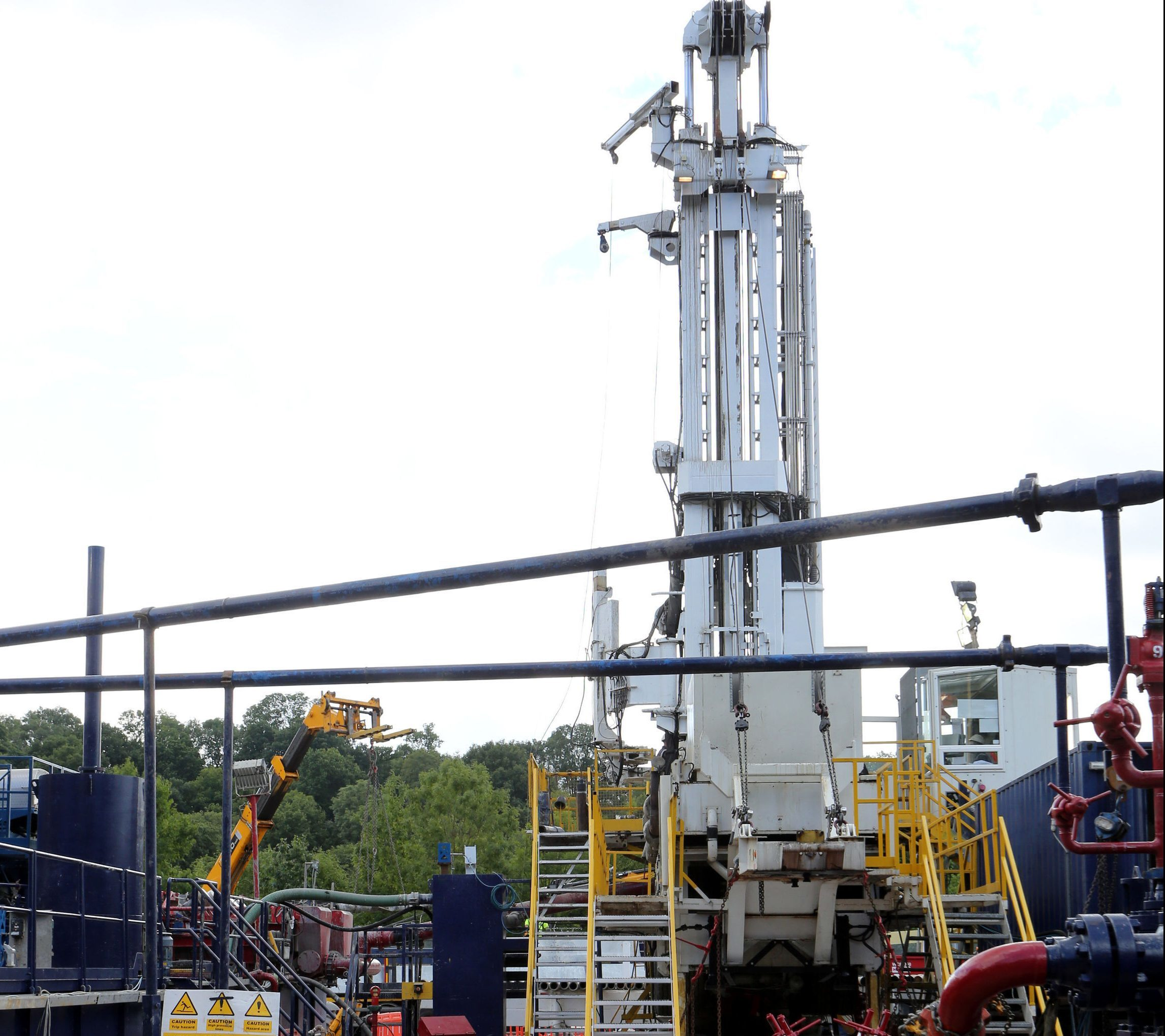 The Cuadrilla exploration drilling site in Balcombe, West Sussex. (Gareth Fuller/PA Wire)