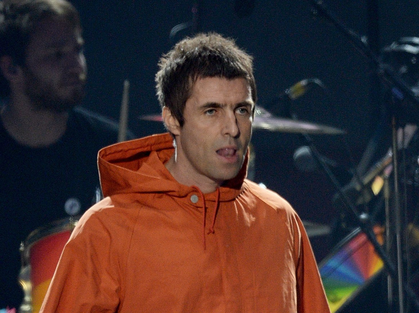 Liam Gallagher performs on stage on June 4, 2017 in Manchester, England. (Getty Images/Dave Hogan for One Love Manchester)