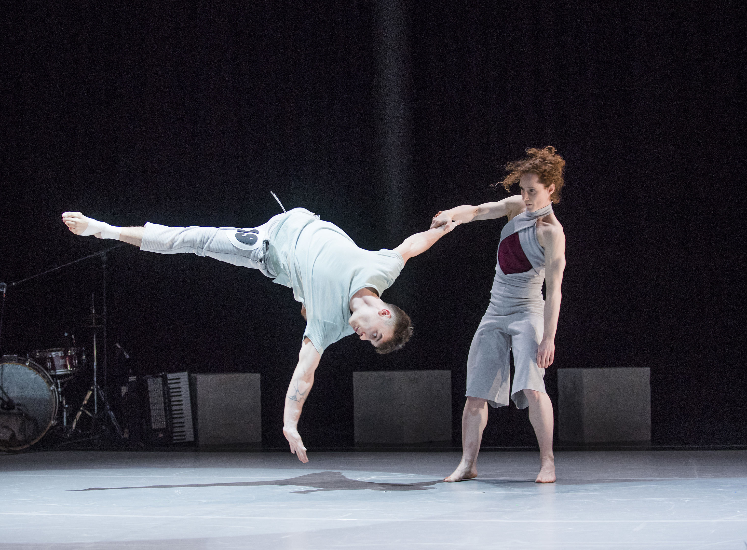 Beren D'Amico and Nikki Rummer in Kin by Barely Methodical Troupe  (Tristram Kenton)