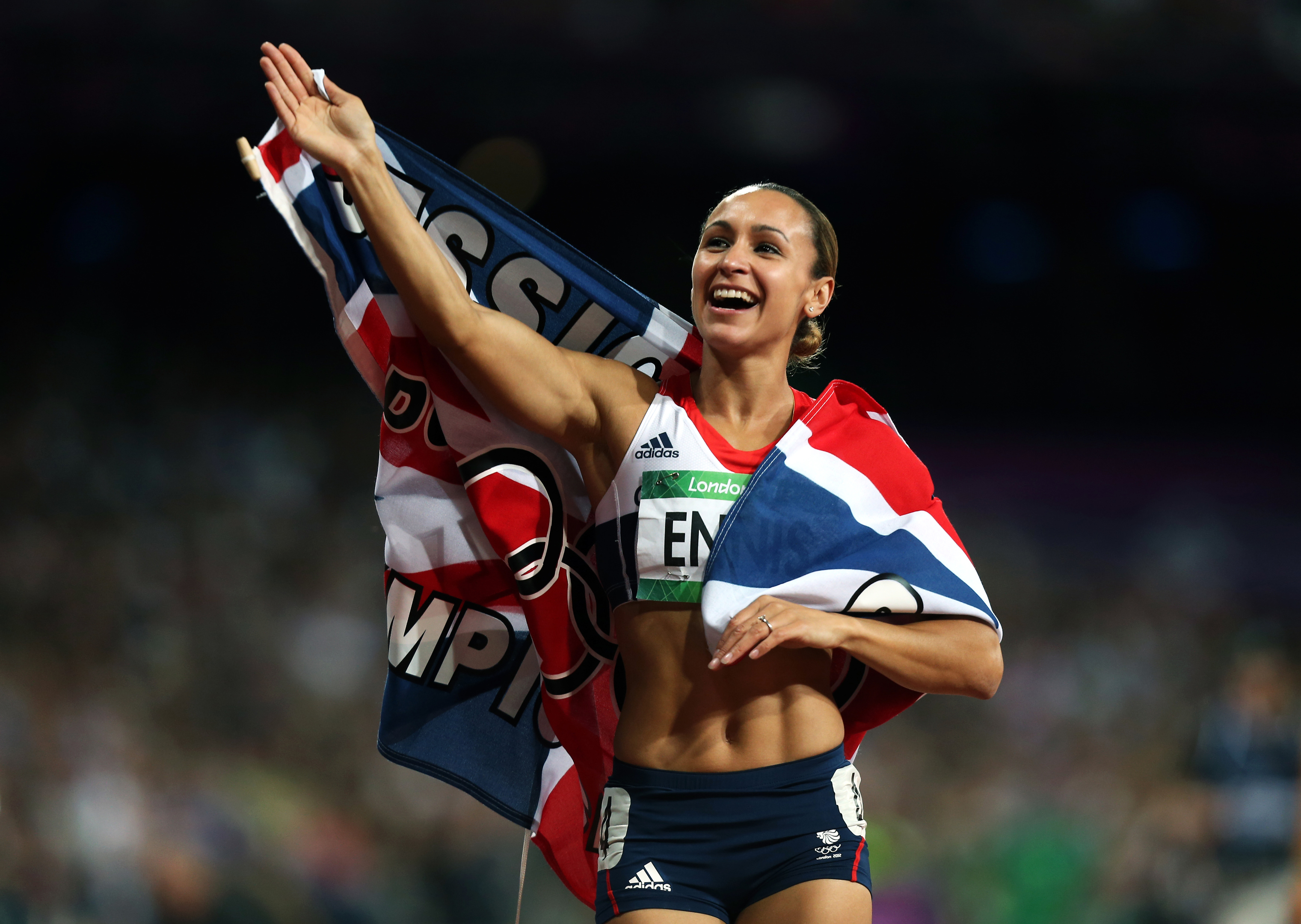 Jessica Ennis celebrates her victory on 'Super Saturday' (David Davies / PA Archive)