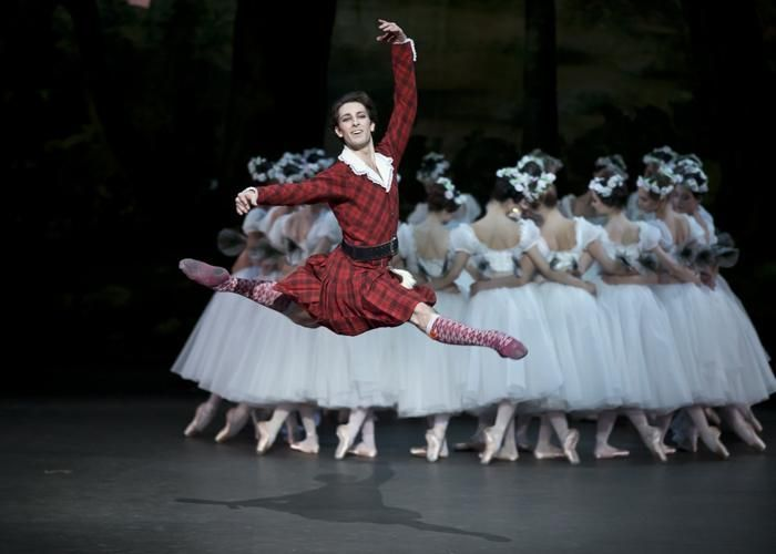 Paris Opera - Mathieu Ganio as James in La Sylphide. © Emma Kauldhar