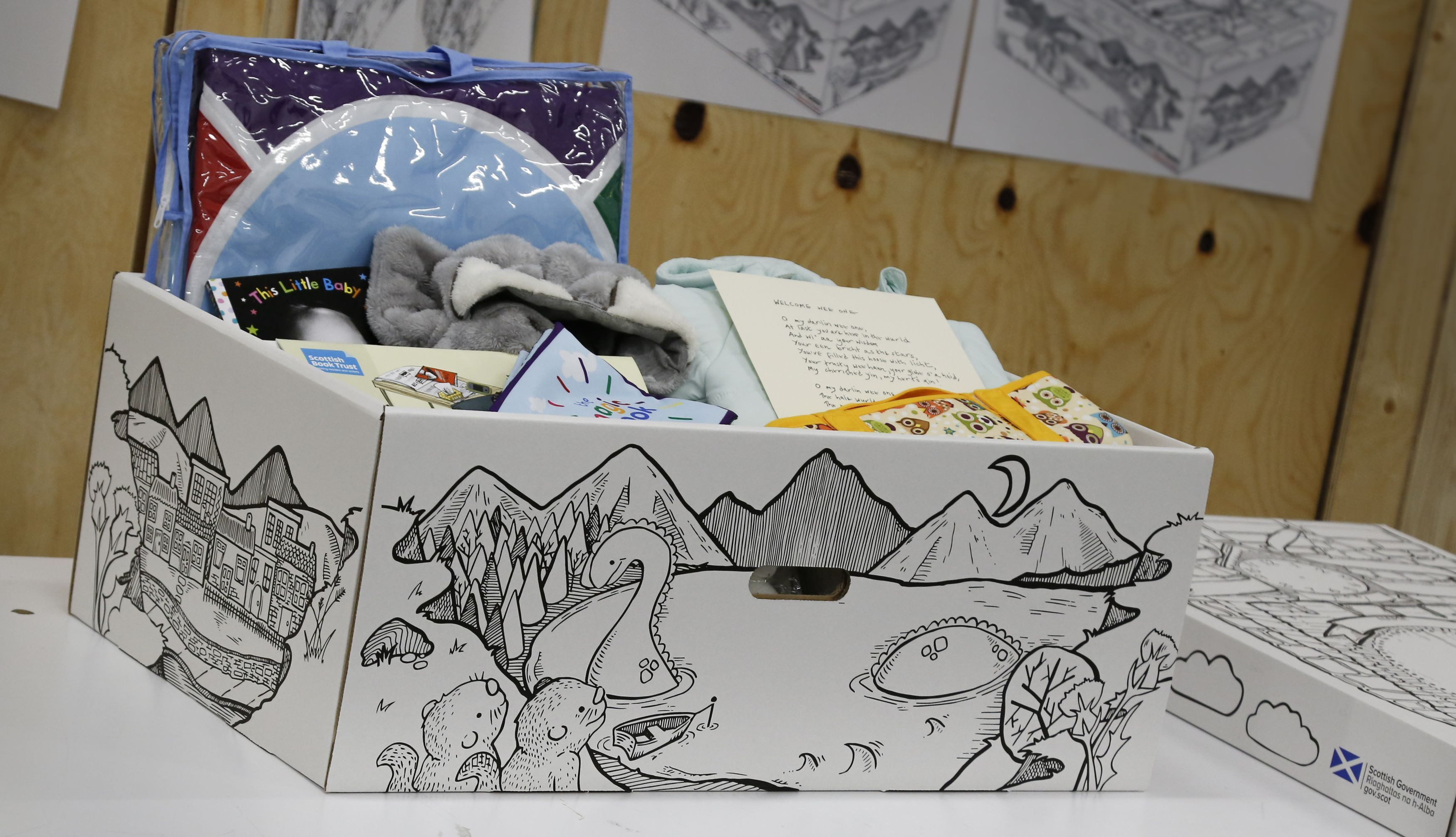 The box will be given to parents of newborn children (Scottish Government/PA Wire)