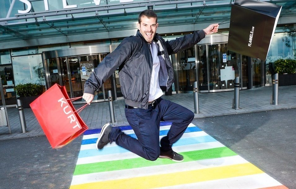 The first rainbow coloured crossing in Glasgow (Silverburn/PA Wire)
