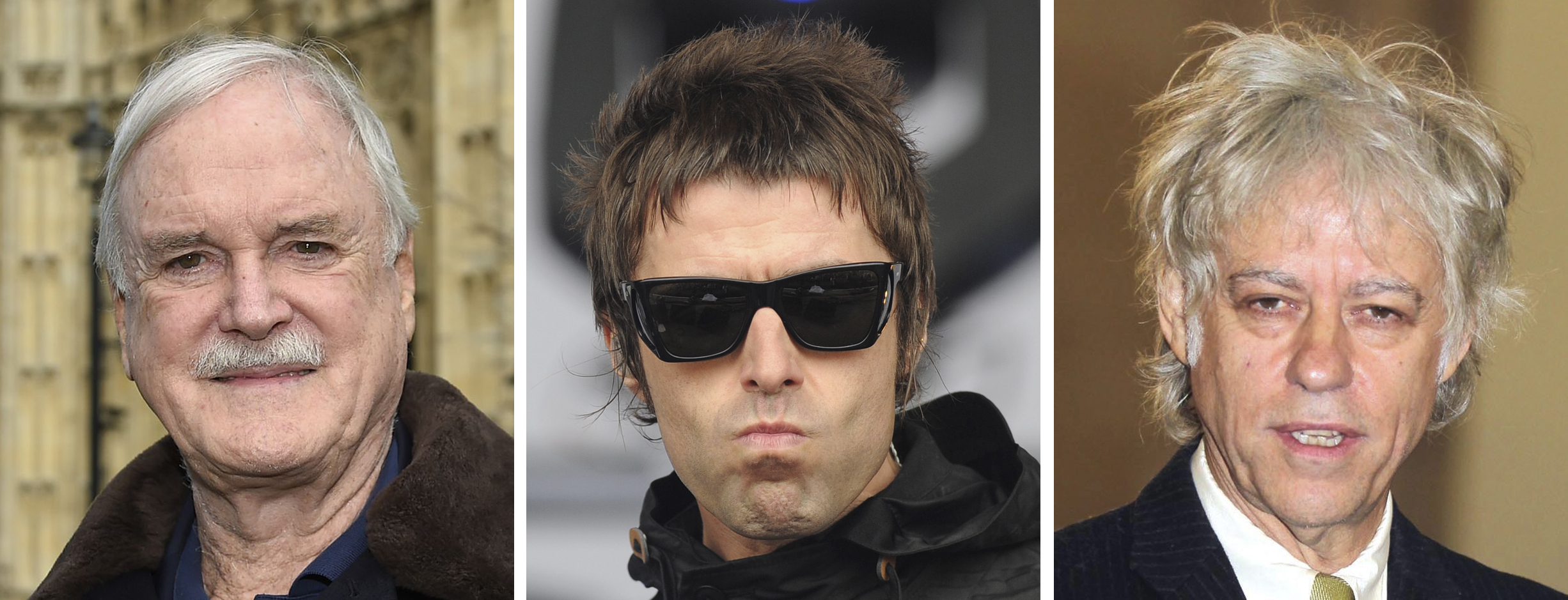 "John Cleese, Sir Bob Geldof and Liam Gallagher, who are among a raft of stars who will take part in a rough sleeping event dubbed ""Live Aid"" for the homeless. (PA Wire)"