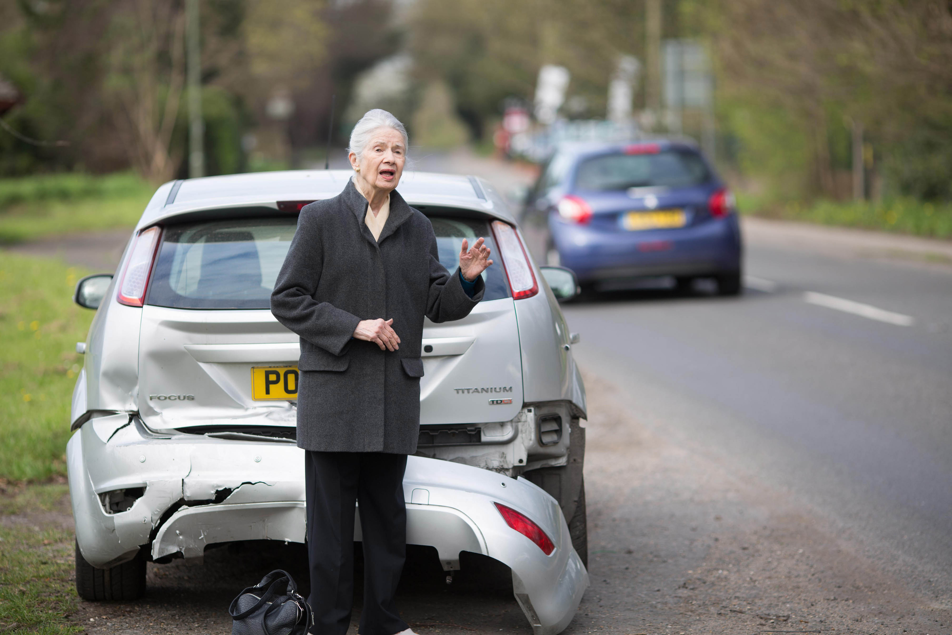 A road safety experiment to see if members of the public stop to assist stranded drivers when their car is left undriveable after an accident is conducted by Direct Line Motor Insurance (David Parry/PA Wire)