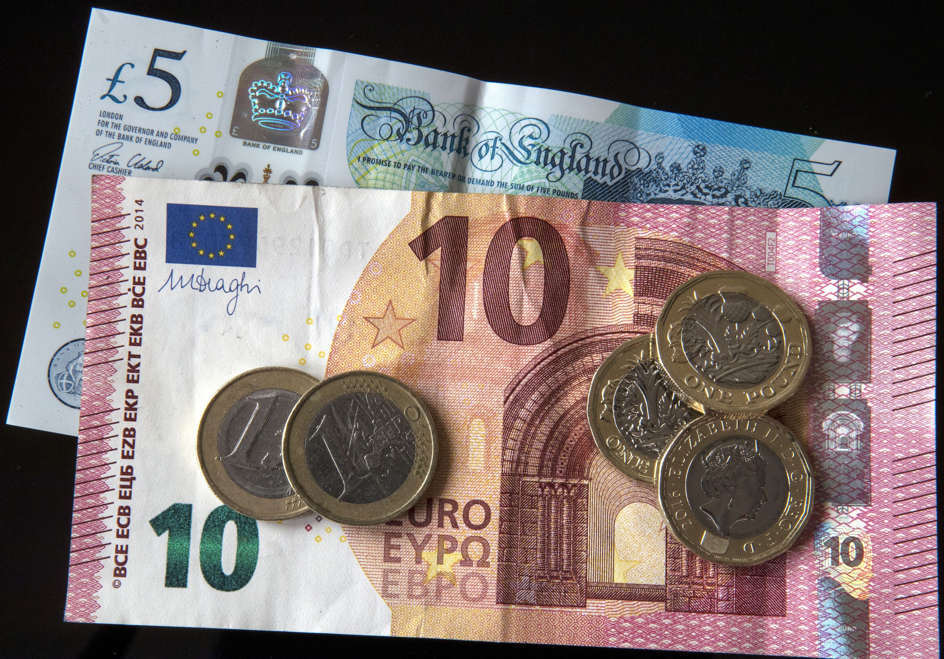 FairFX reported that the pound has fallen 3% against the euro since the start of the summer holidays a month ago to a rate of 1.09, meaning tourists are getting 32 fewer euros for every £1,000 they exchange. (Peter Byrne/PA Wire)