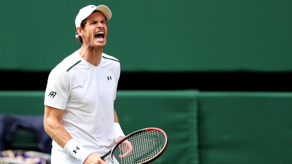 Andy Murray playing at Wimbledon