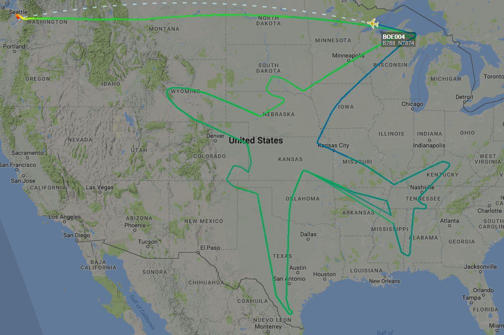 The completed outline (FlightRadar24)