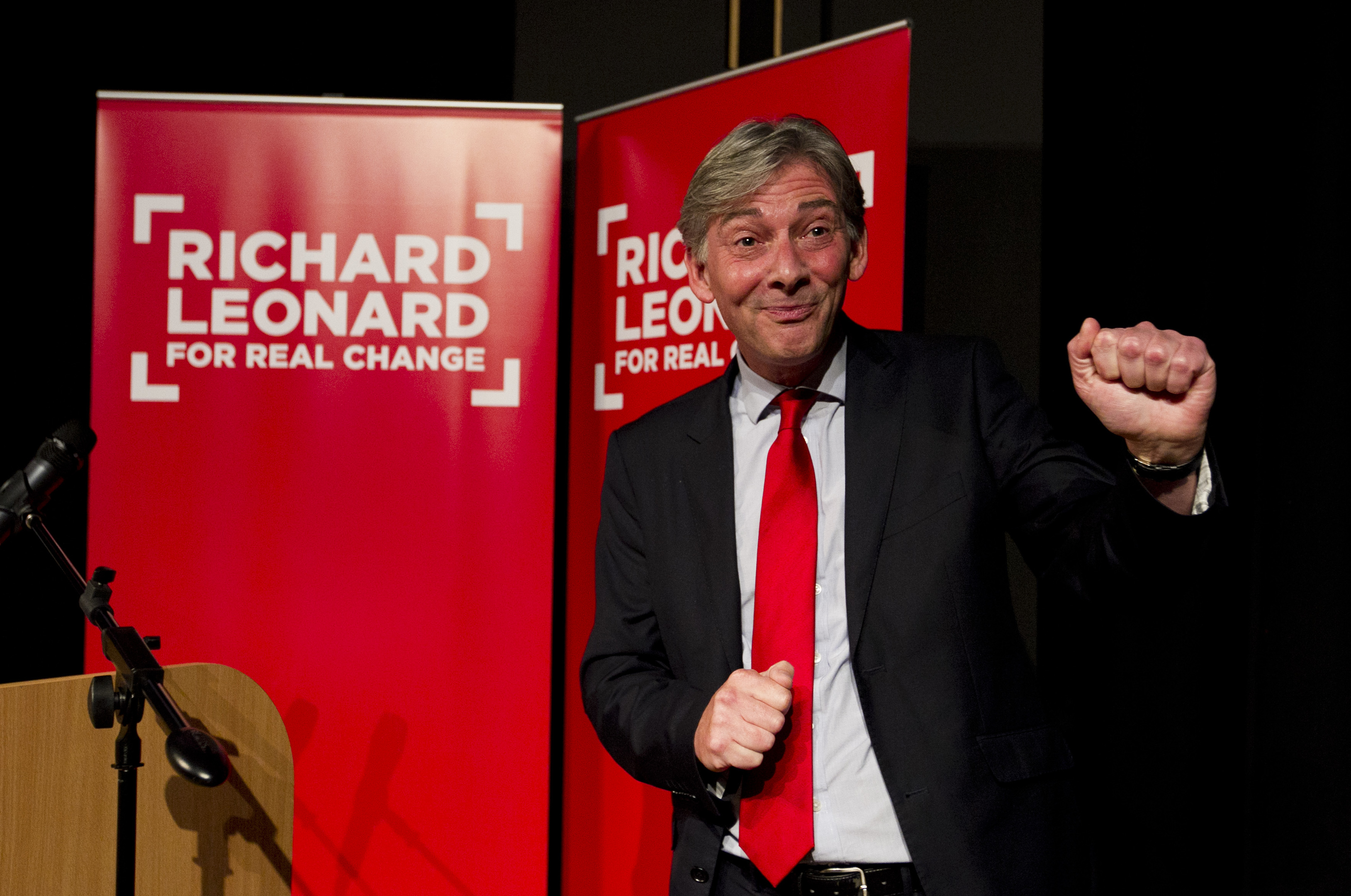Richard Leonard launching his campaign for the Scottish Labour Party leadership (Andrew Cawley / DC Thomson)