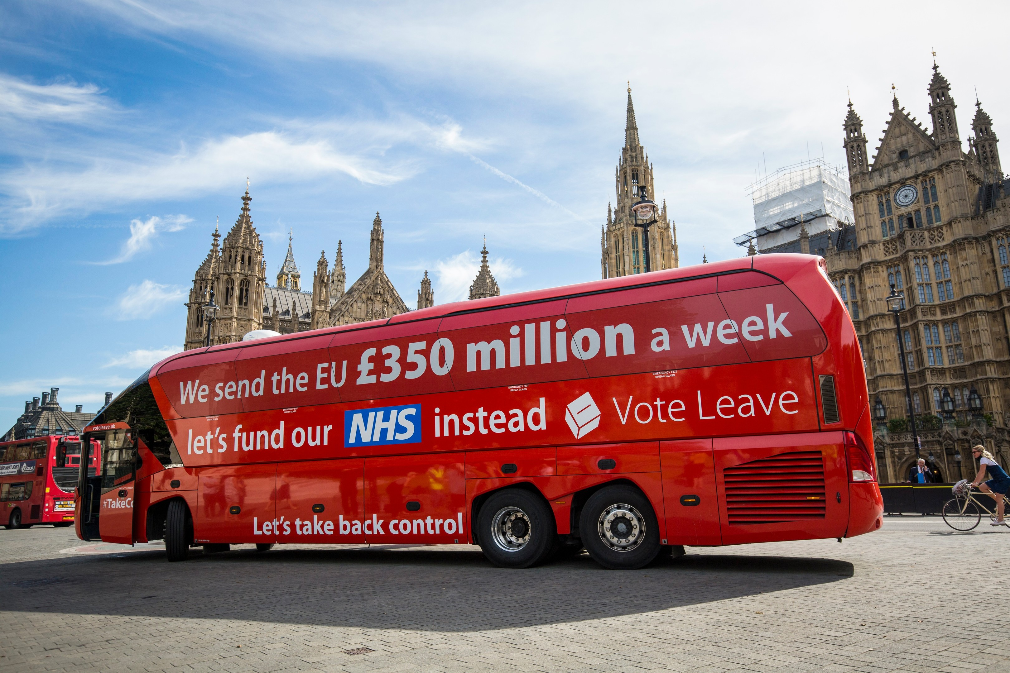 The Leave campaign claimed we'd save millions every week by separating from the EU... Nigel Farage confirmed the morning after the result that it was not possible (Jack Taylor/Getty Images)