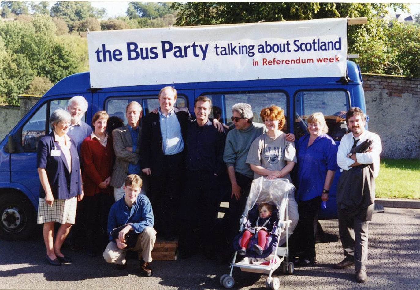 In 1997, this Bus Party undertook a dash around Scotland in the last days of the devolution referendum campaign (The Scottish Political Archive / Stirling University)