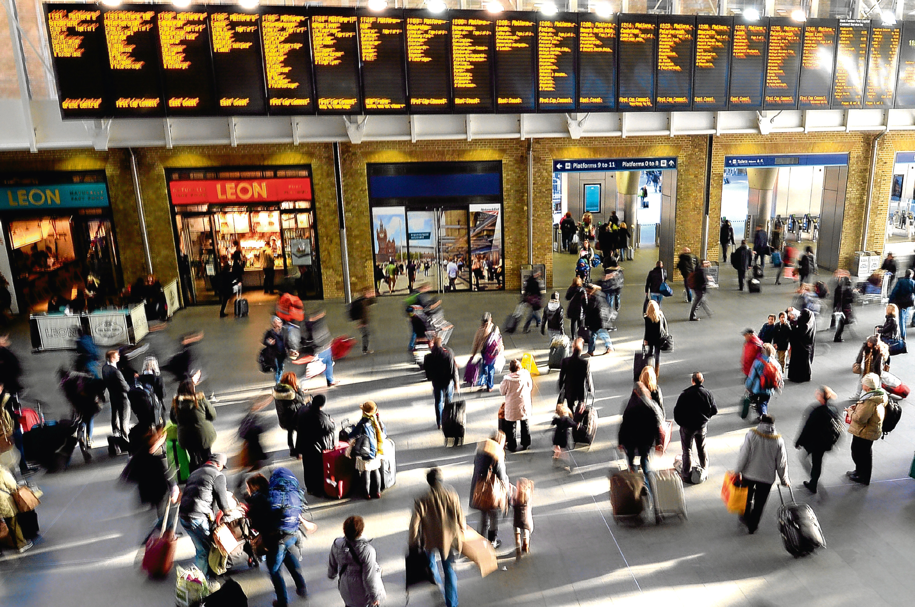 King's Cross train station in central London (PA)