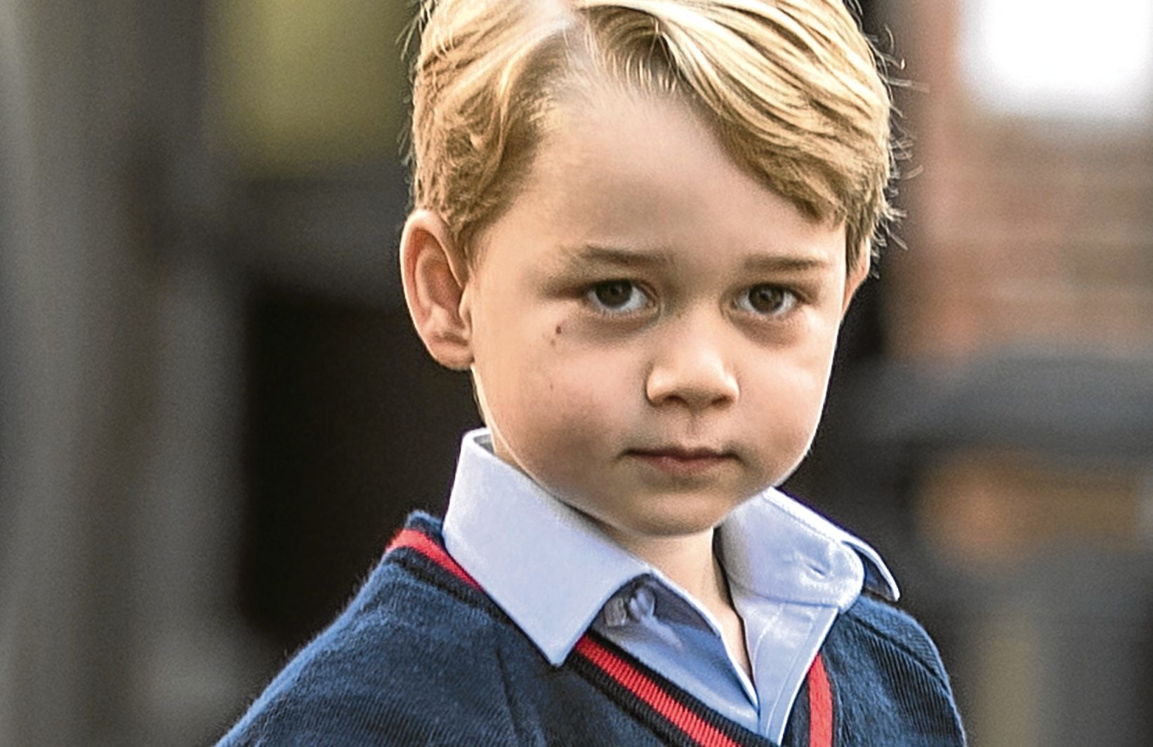 Prince George of Cambridge arrives for his first day of school (Richard Pohle - WPA Pool/Getty Images)
