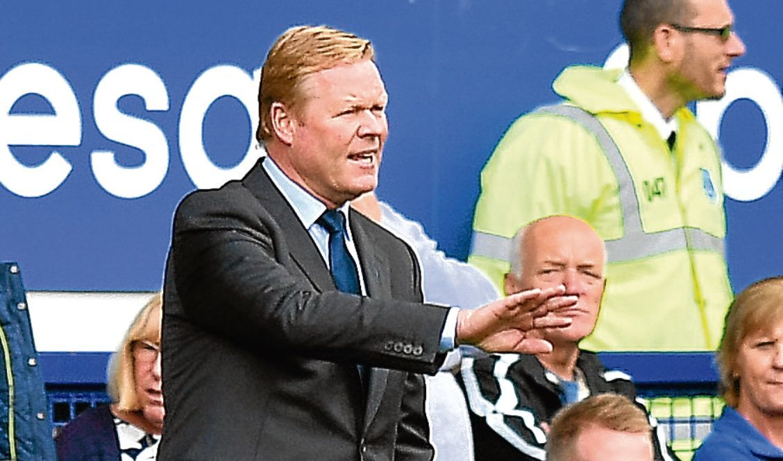 Everton manager Ronald Koeman (PA)