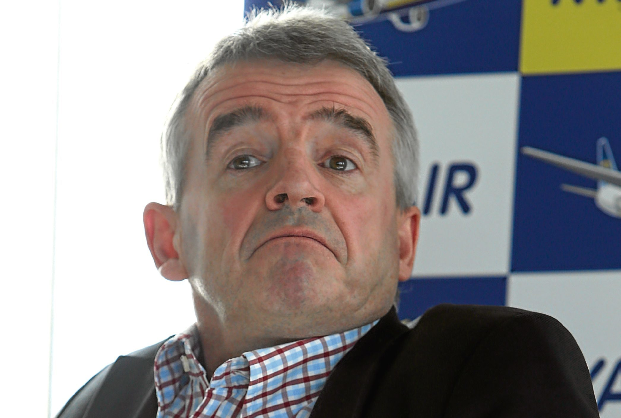 Ryanair's CEO Michael O'Leary speaks at a press conference in Central London after the low cost airline announces half year results.