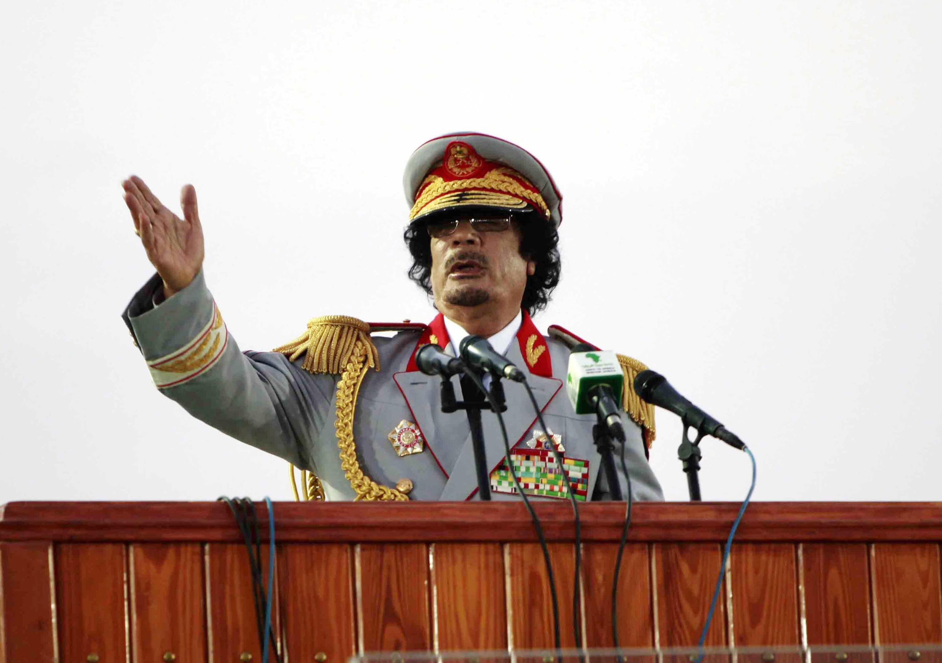 Former Libyan leader Muammar Gaddafi (REUTERS/Ismail  Zetouny)