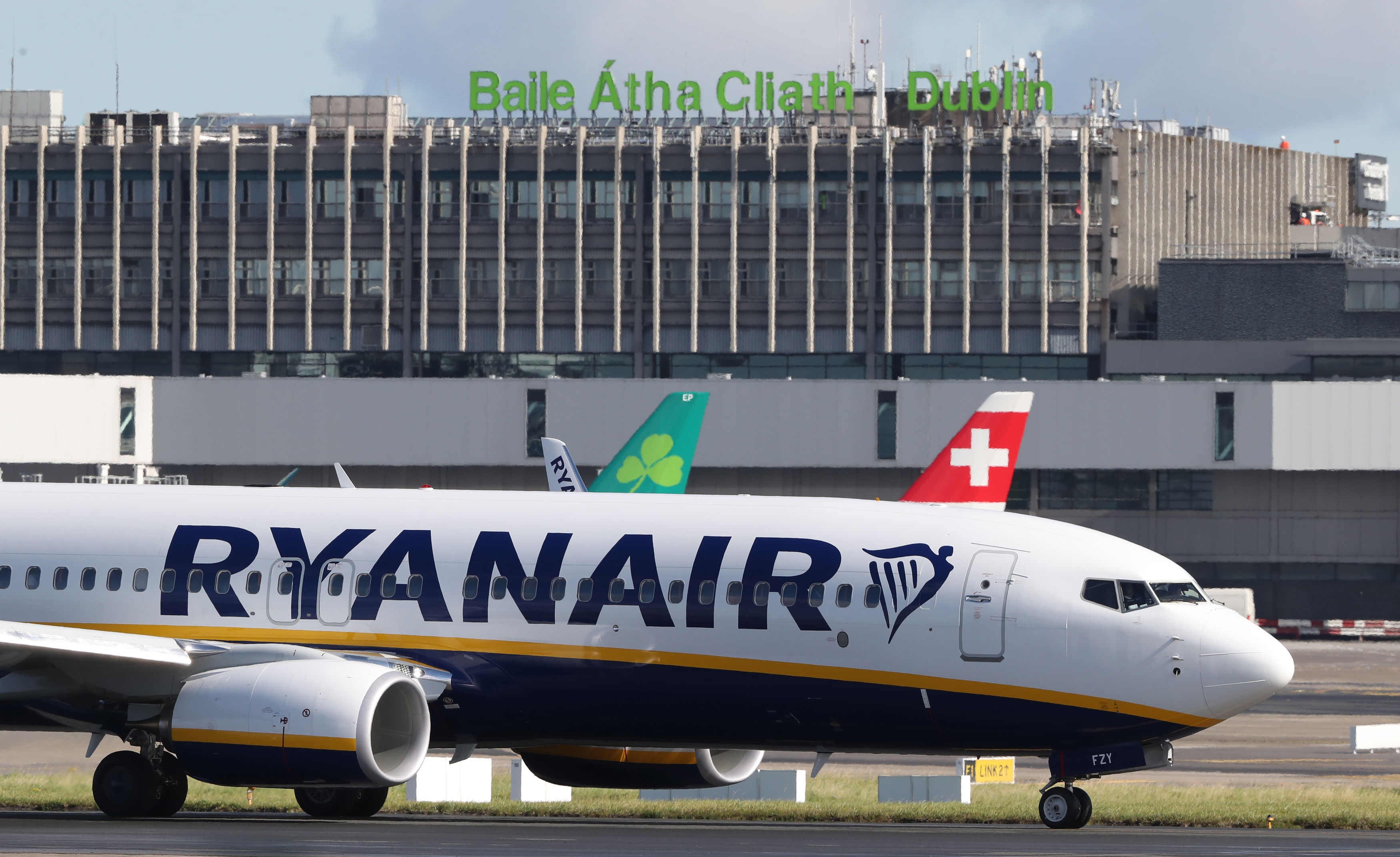 A Ryanair jet at Dublin Airport, as the airline has extended its flight cancellation plan in a move that will hit 400,000 customers. (Niall Carson/PA Wire)