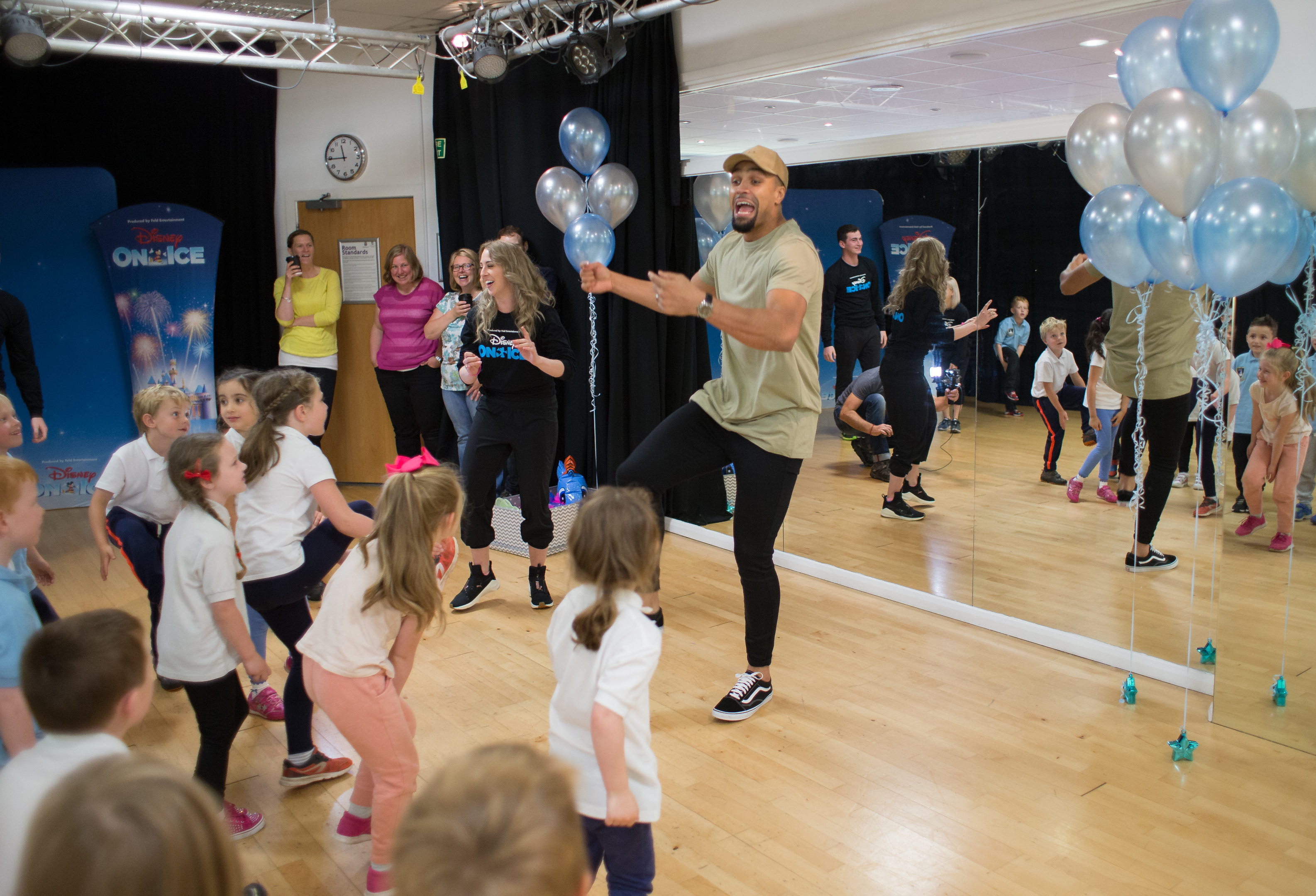 Ashley Banjo hosts a dance workshop with children from Linlithgow Primary School (Martin Shields)