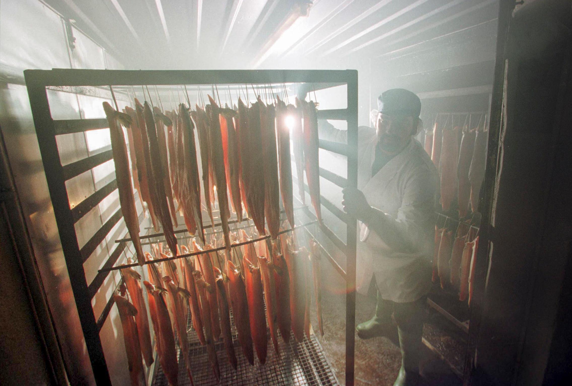 Salmon smokehouse (Alamy)