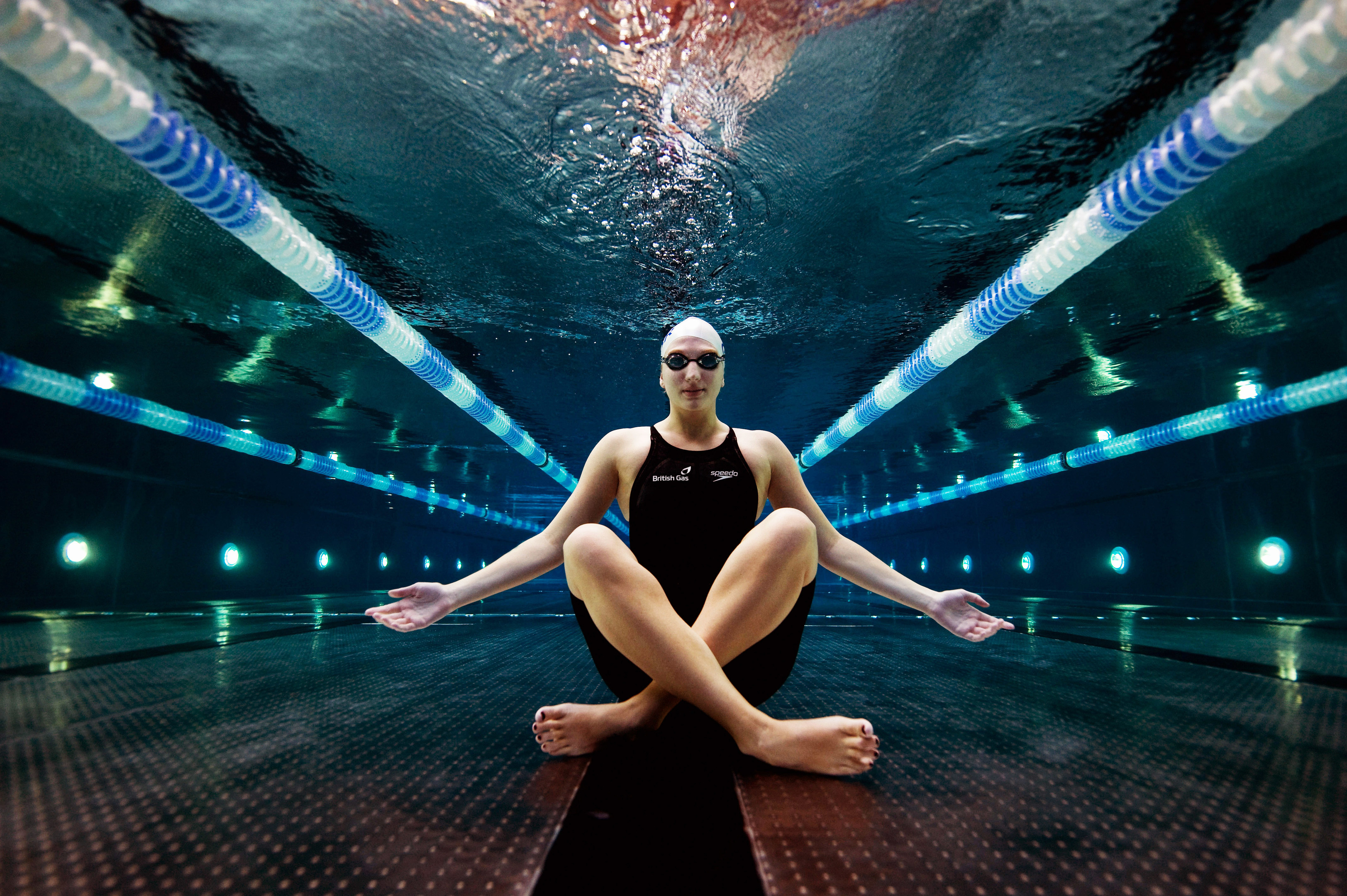 Rebecca Adlington poses underwater (Clive Rose/Getty Images for British Gas)