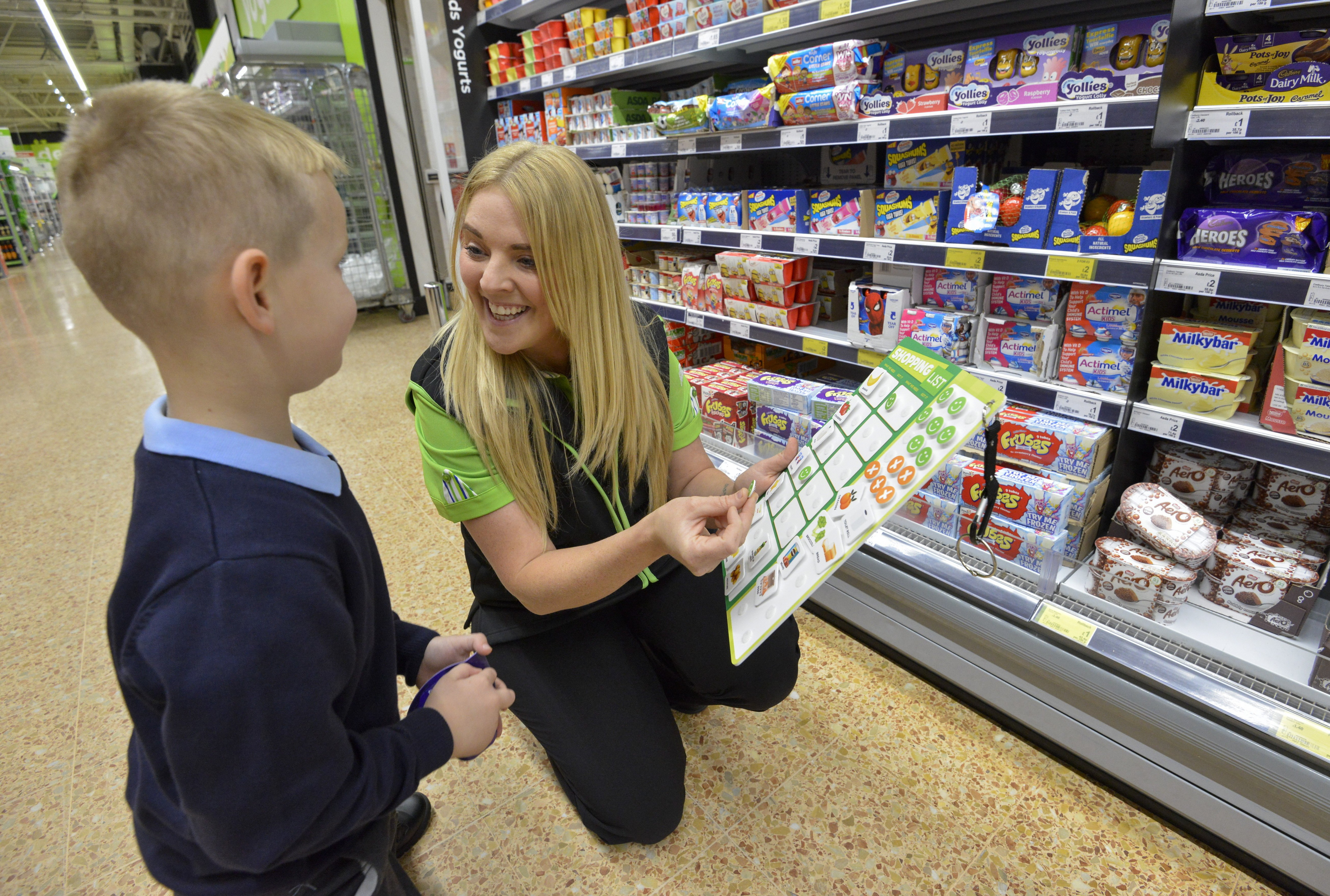 Asda's Jenny Barnett, who came up with the idea, with her five-year-old son Charlie