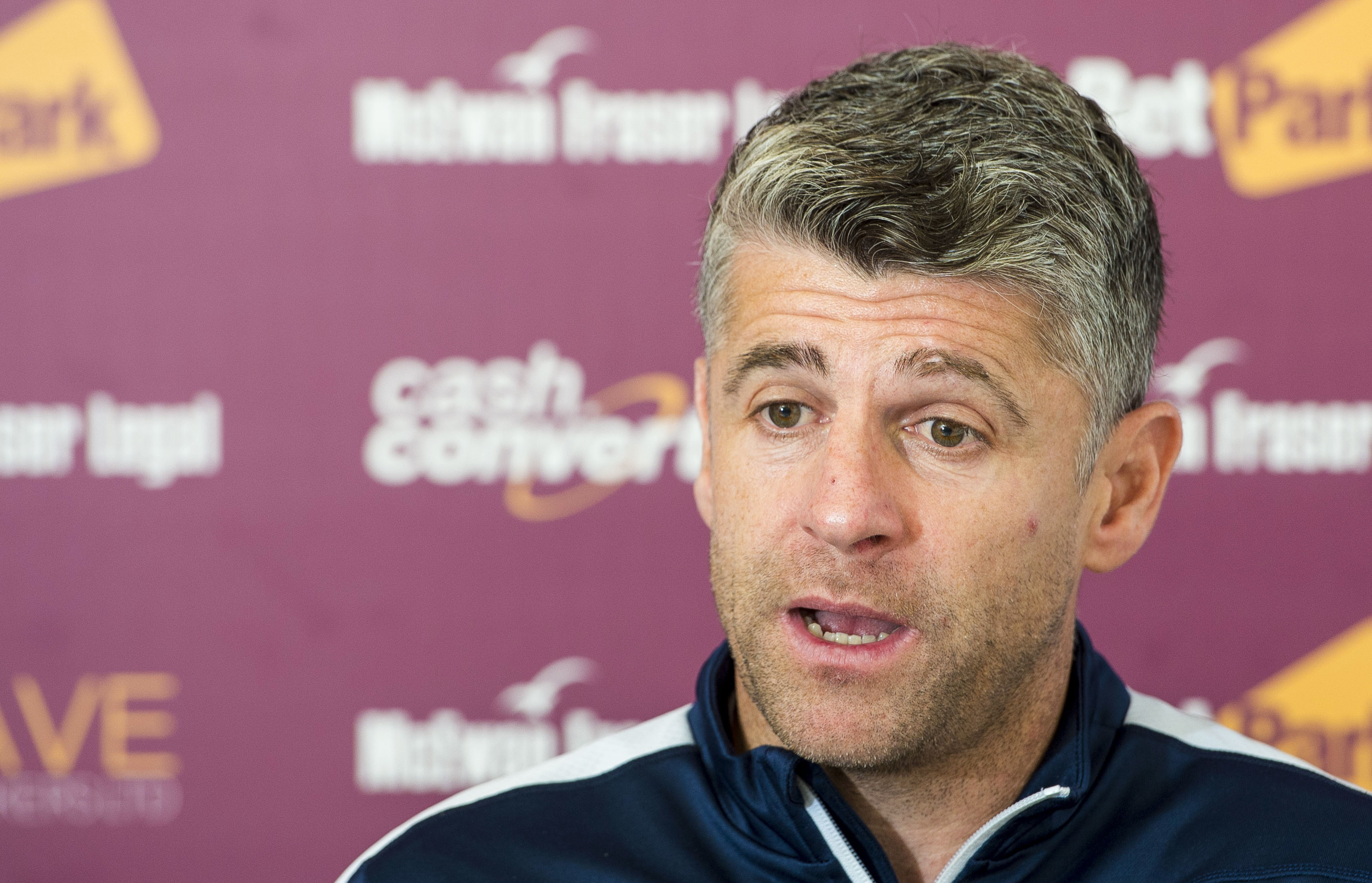 Motherwell manager Stephen Robinson (SNS Group / Paul Devlin)