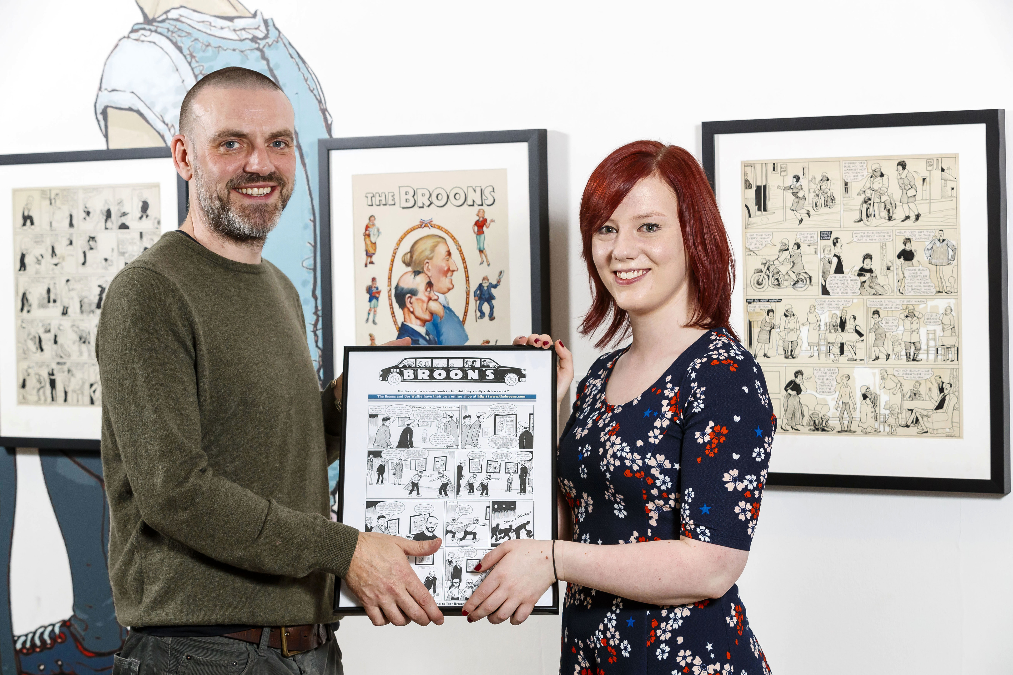 Frank Quitely with Kirsten Murray, Editor of Heritage Brands DC Thomson (SNS Group / Roddy Scott)