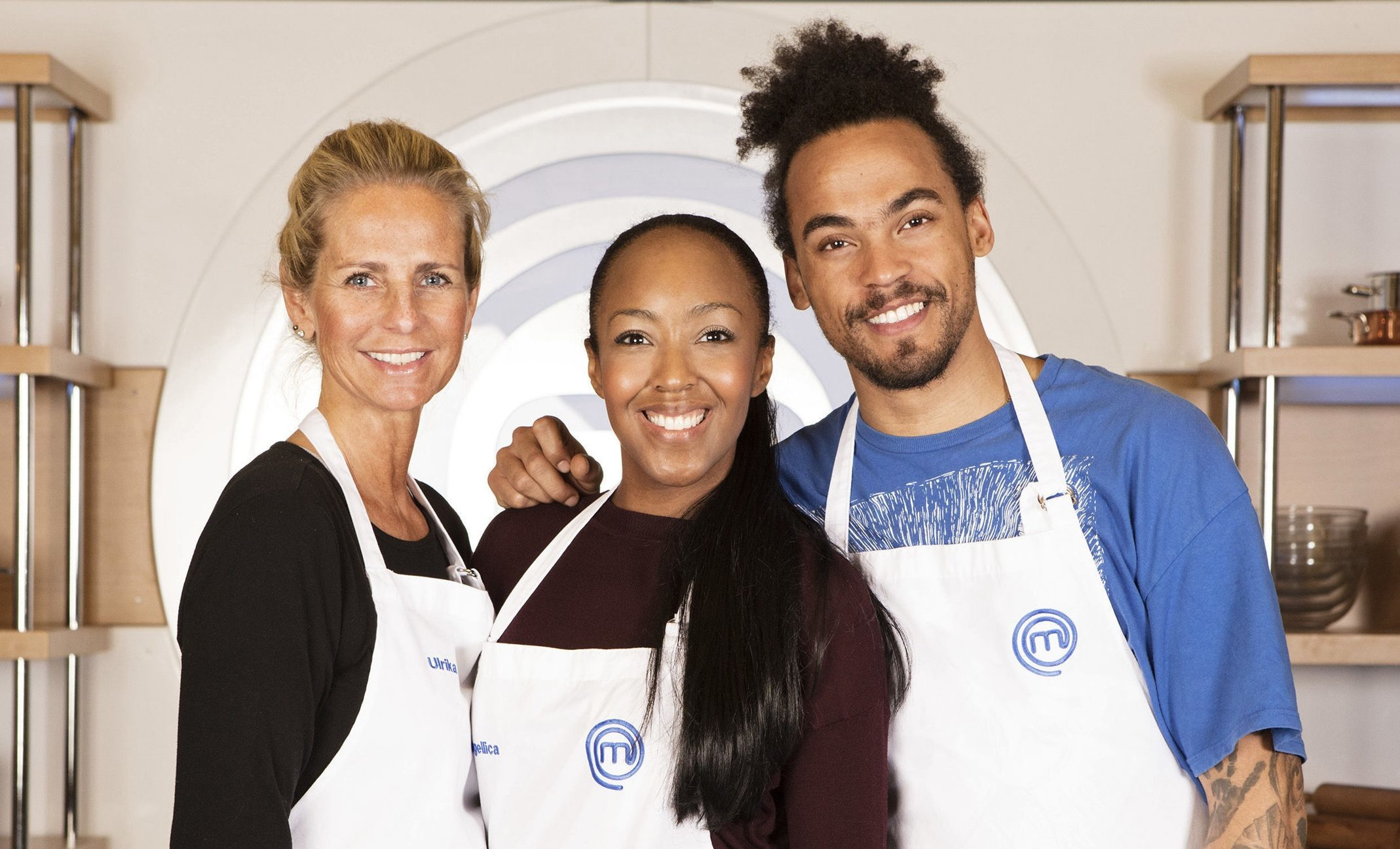 Ulrika Jonsson, Angellica Bell and Dev Griffin will go head-to-head in Friday's finale (BBC/PA)