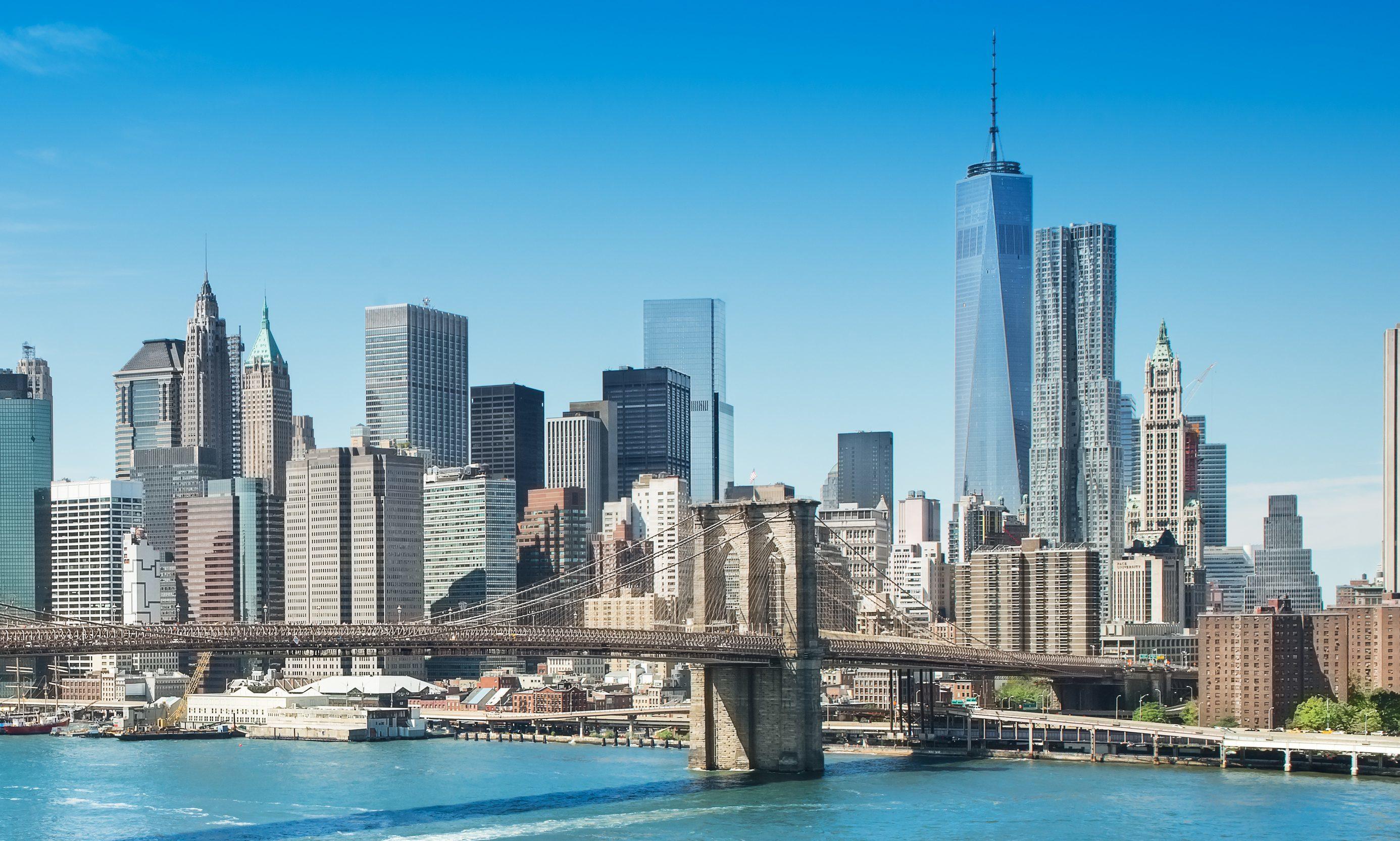 New York skyline, including Brooklyn Bridge (Getty Images)