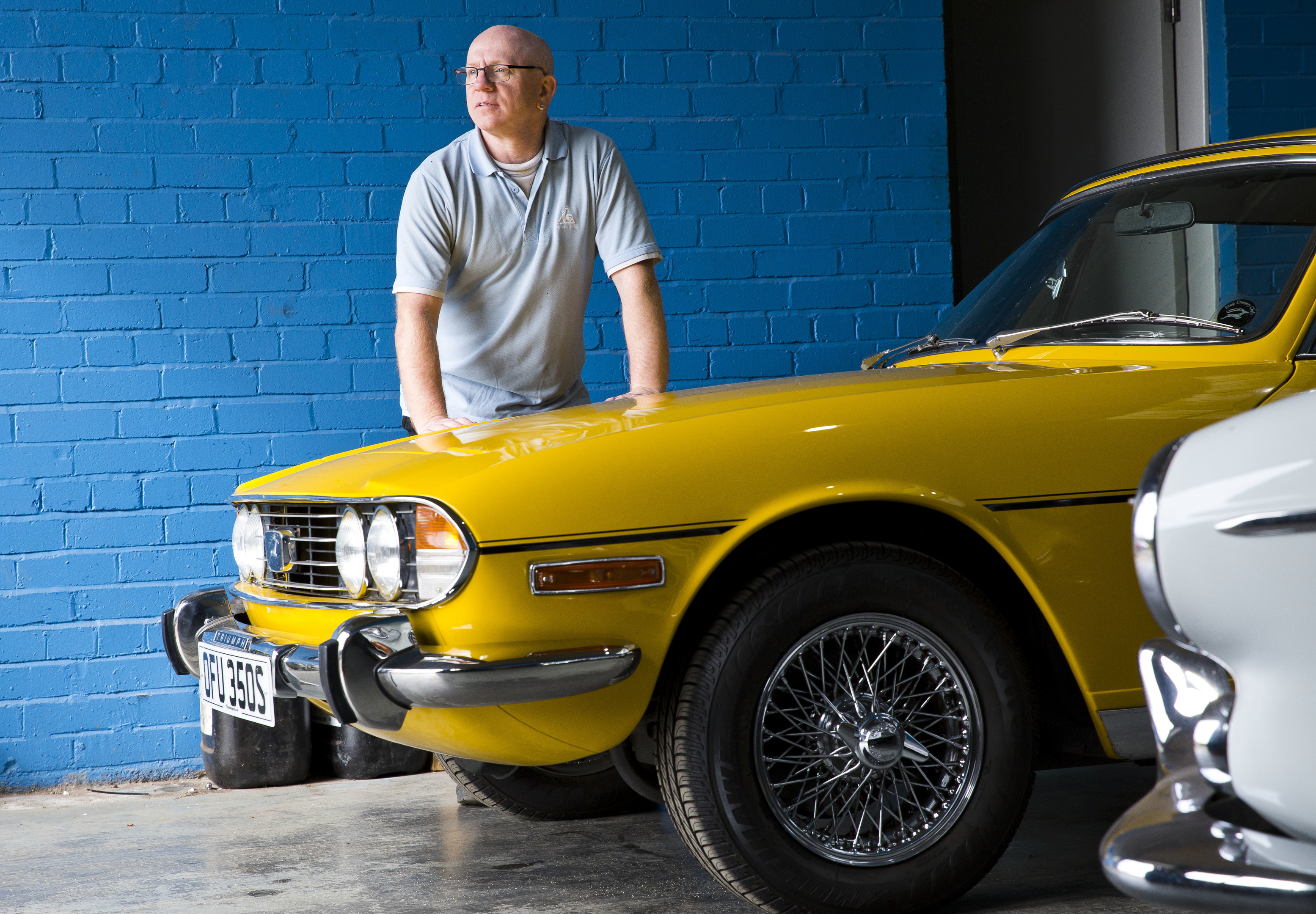David Mutch owns and runs Clydesdale Cars in East Kilbride who repair and restore classic cars (Jamie Williamson)