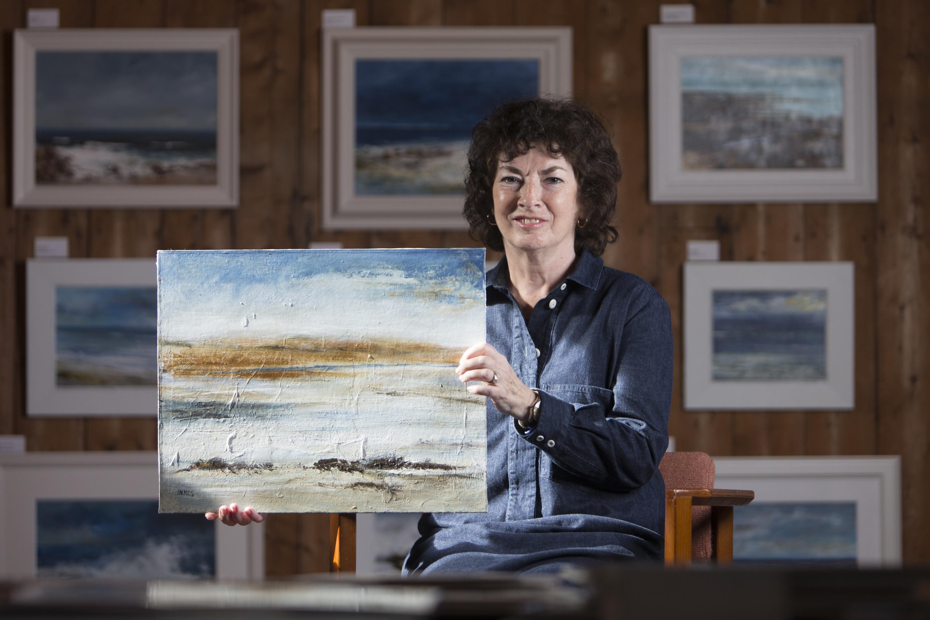 Artist Frances Innes from Peterhead (Ross Johnston/Newsline Media)