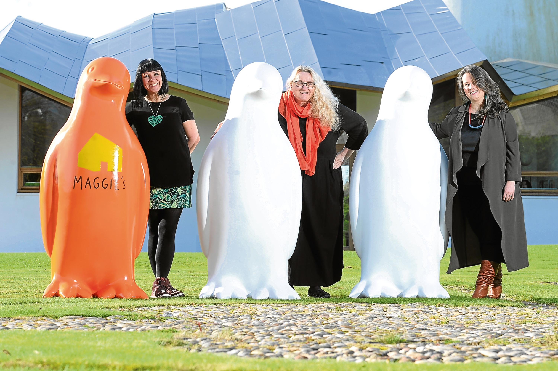 Suzanne Scott, Janice Aitken and Jo MacFadyen are team art for Maggie's Penguins (Kim Cessford / DC Thomson)