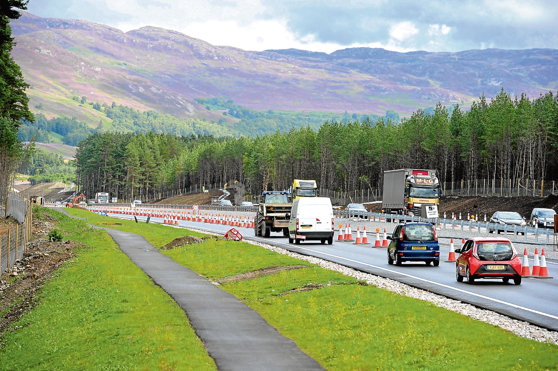 Newly constructed dual carraigeway between Kincraig and Dalraddy in Speyside (Sandy McCook)