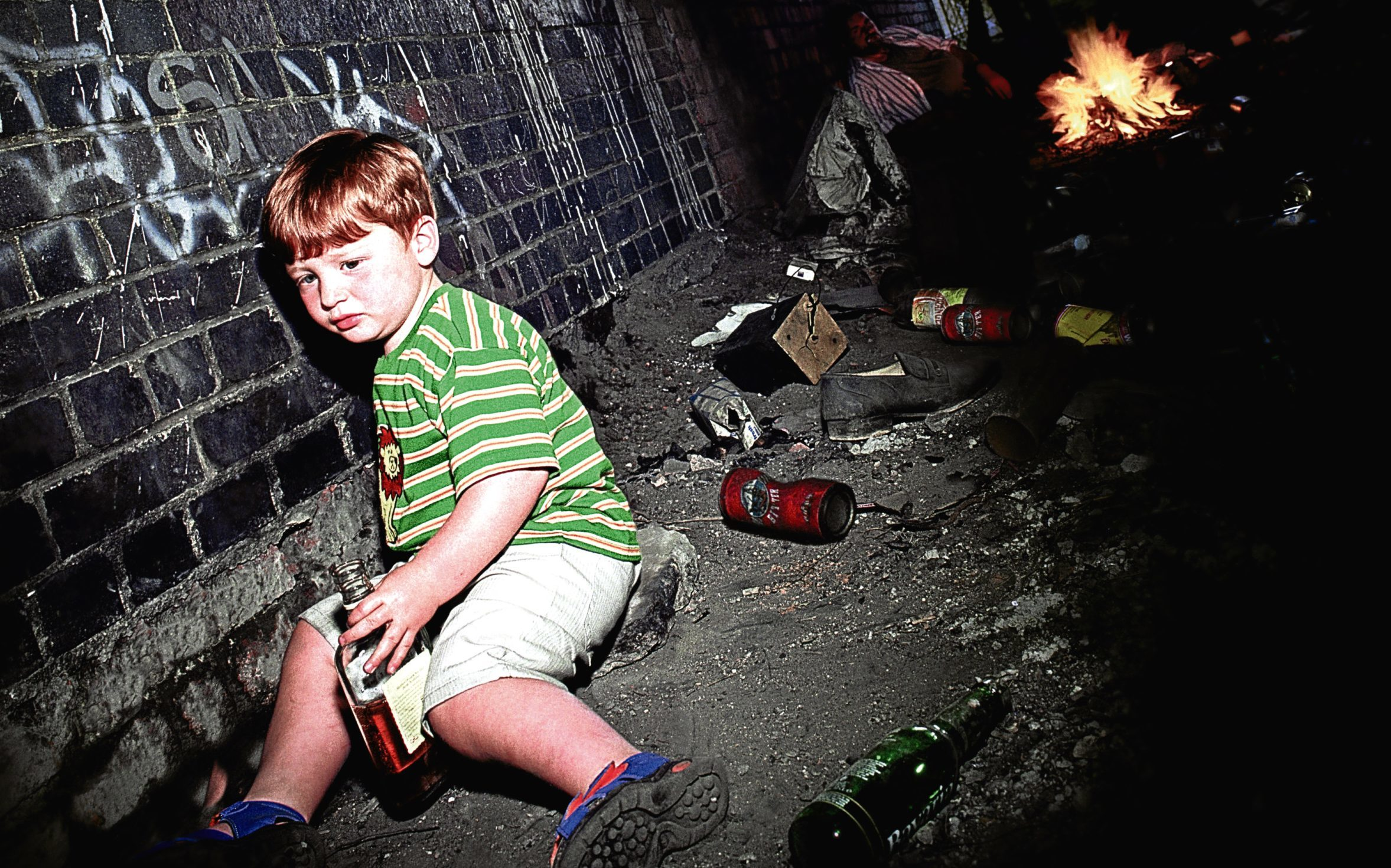 Experts warn youngsters being raised by problem          drinkers are suffering shattered childhoods and blighted futures