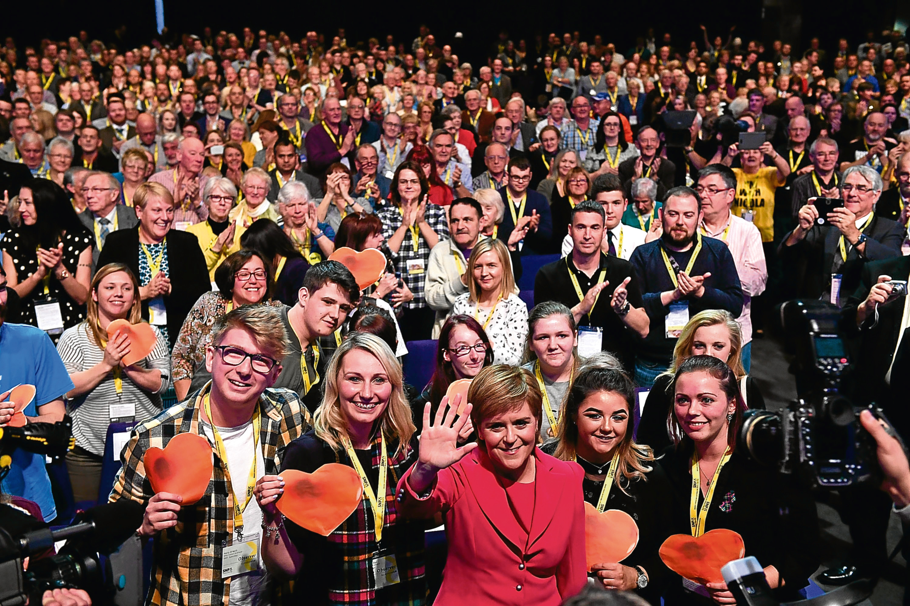 SNP leader Nicola Sturgeon addresses the Scottish National Party Conference (Jeff J Mitchell/Getty Images)