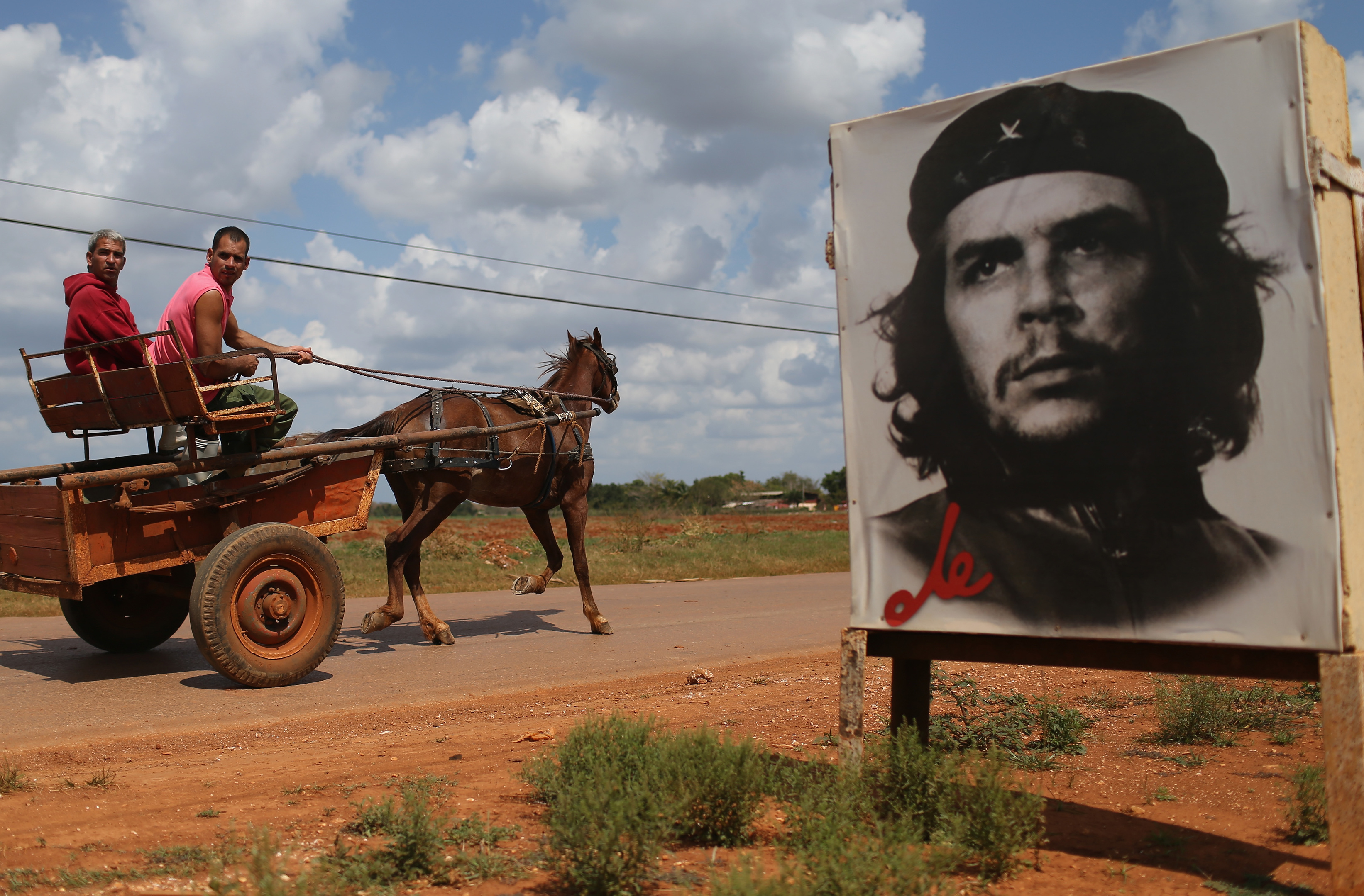 A poster of Revolutionary hero Che Guevara (Joe Raedle/Getty Images)