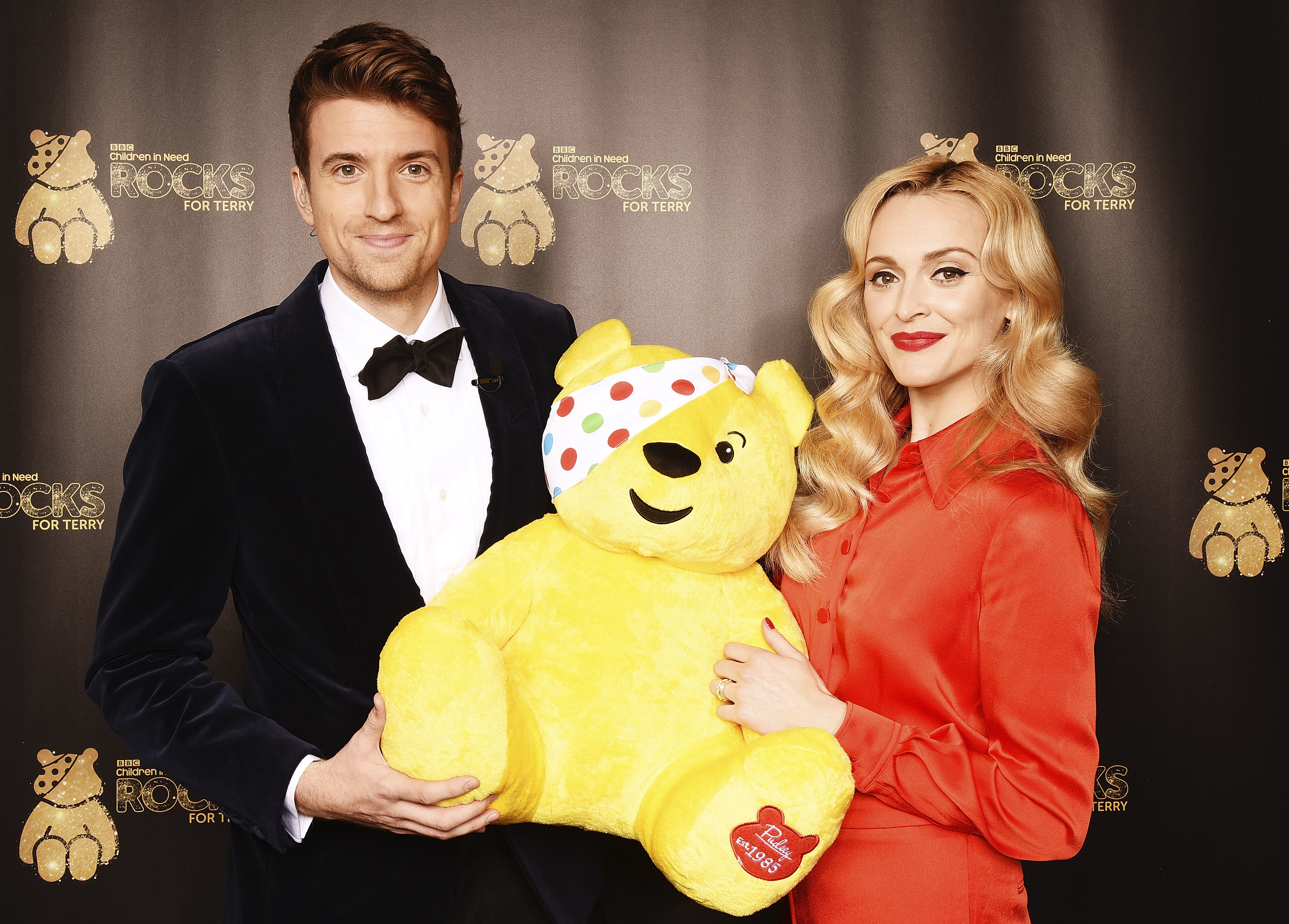 Greg James (L) and Fearne Cotton support BBC Children in Need Rocks for Terry at Royal Albert Hall on November 1, 2016 in London, England. (Dave J Hogan/Dave J Hogan/Getty Images)