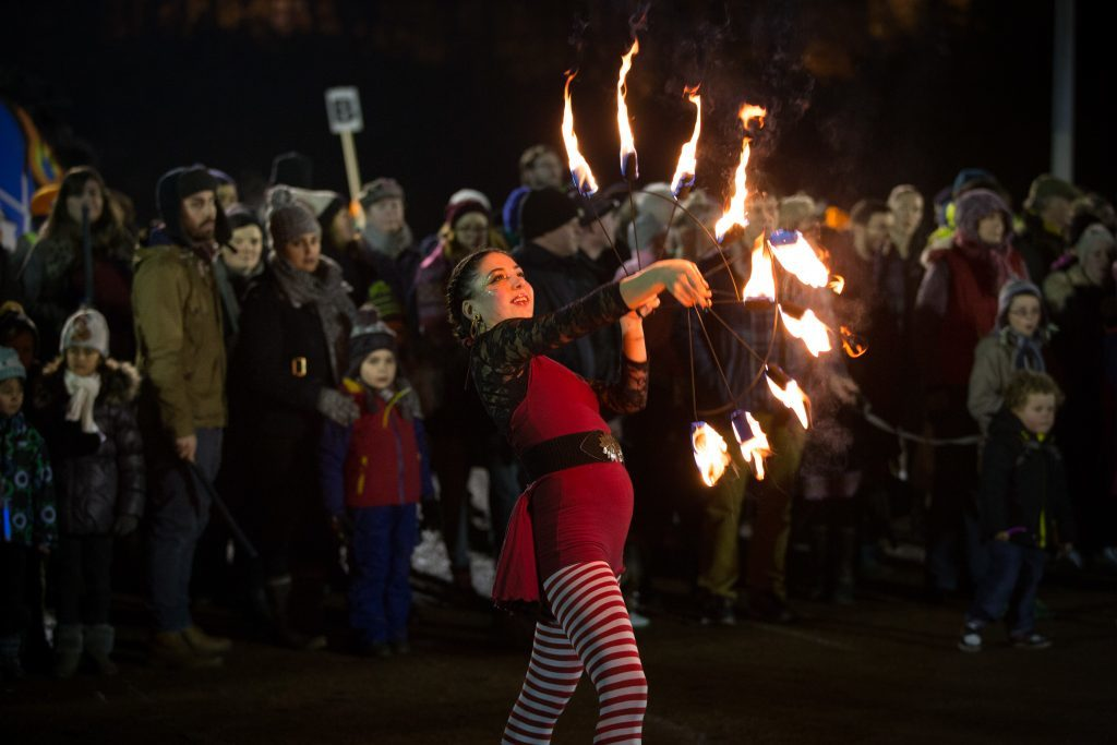 West End Festival Winter Torchlight Parade for St Andrews Day. (Martin Shields)