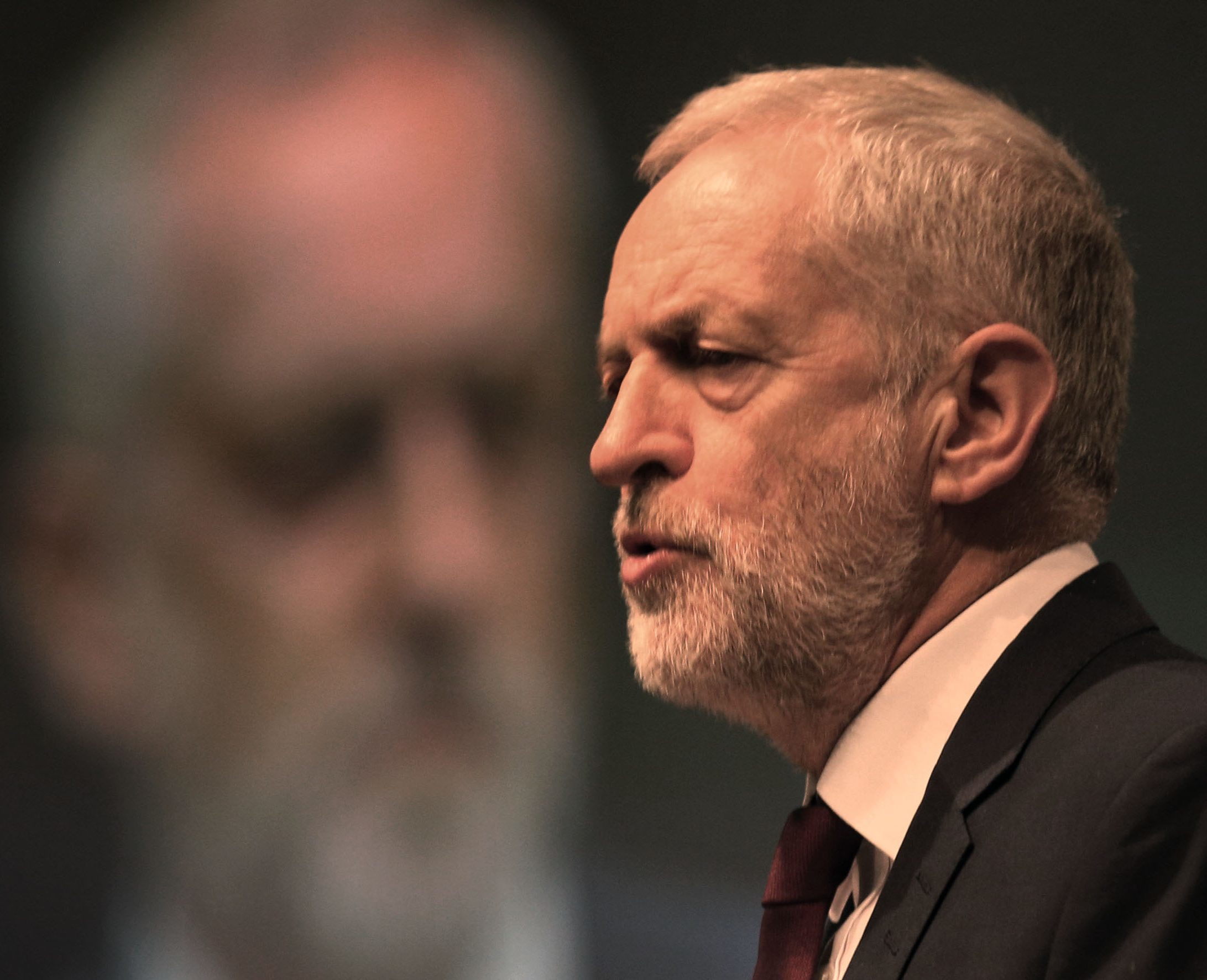 """Labour leader Jeremy Corbyn addressing the Unite union's Scottish policy conference in Aviemore, where he said that the party is undergoing a """"rebirth"""" in its former Scottish heartlands. (David Cheskin/PA Wire)"""