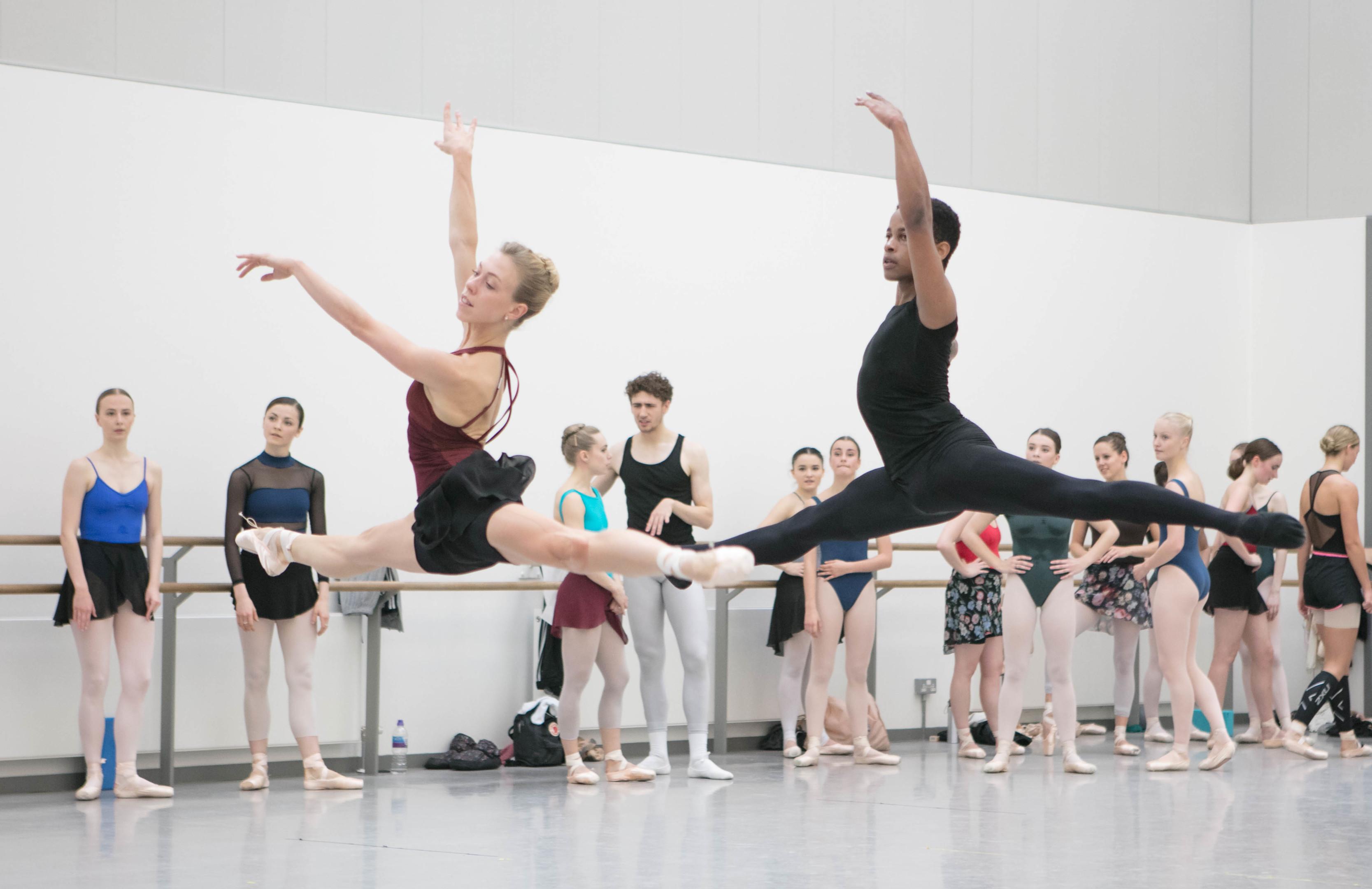 Modern ballet student Keenen Fletcher rehearses alongside Scottish Ballet principal dancer Constance Devernay (Julie Howden)