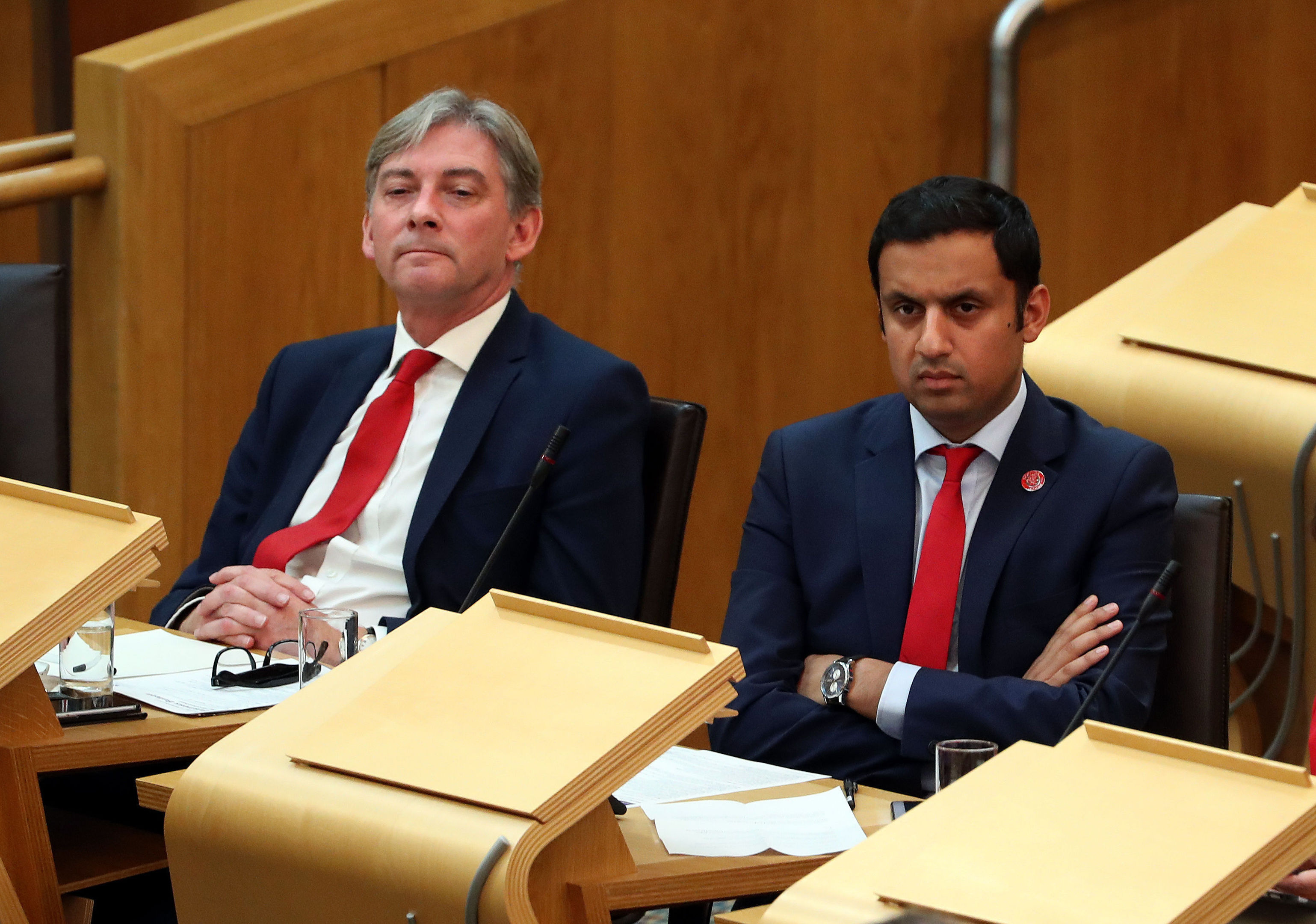 Scottish Labour leadership candidates Richard Leonard (left) and Anas Sarwar. (Andrew Milligan/PA Wire)