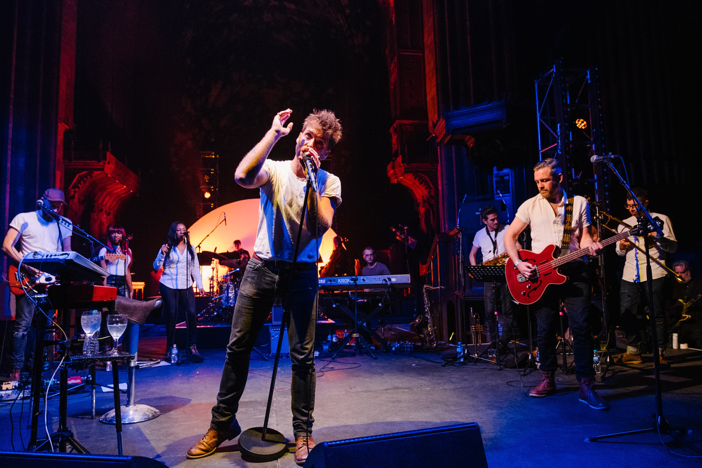 Paolo Nutini performing in Paisley Abbey (Euan Robertson/PA Wire)