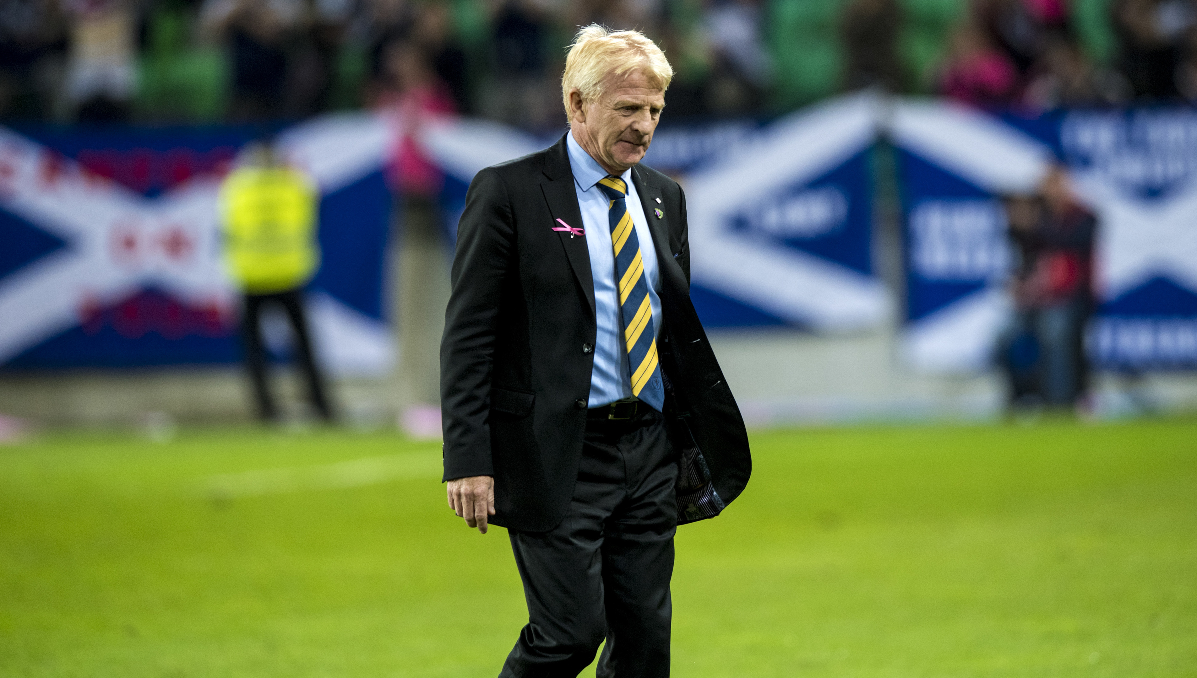 Scotland manager Gordon Strachan at full-time in Slovenia (SNS Group)