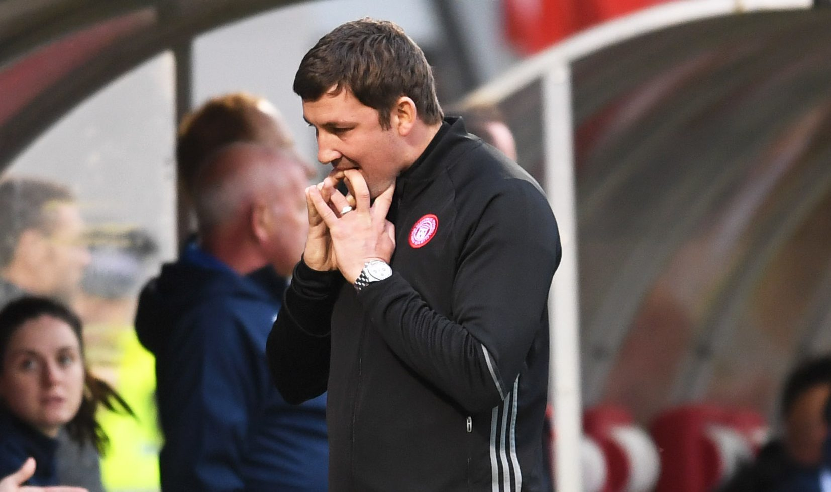 Hamilton manager Martin Canning on the touchline (SNS)