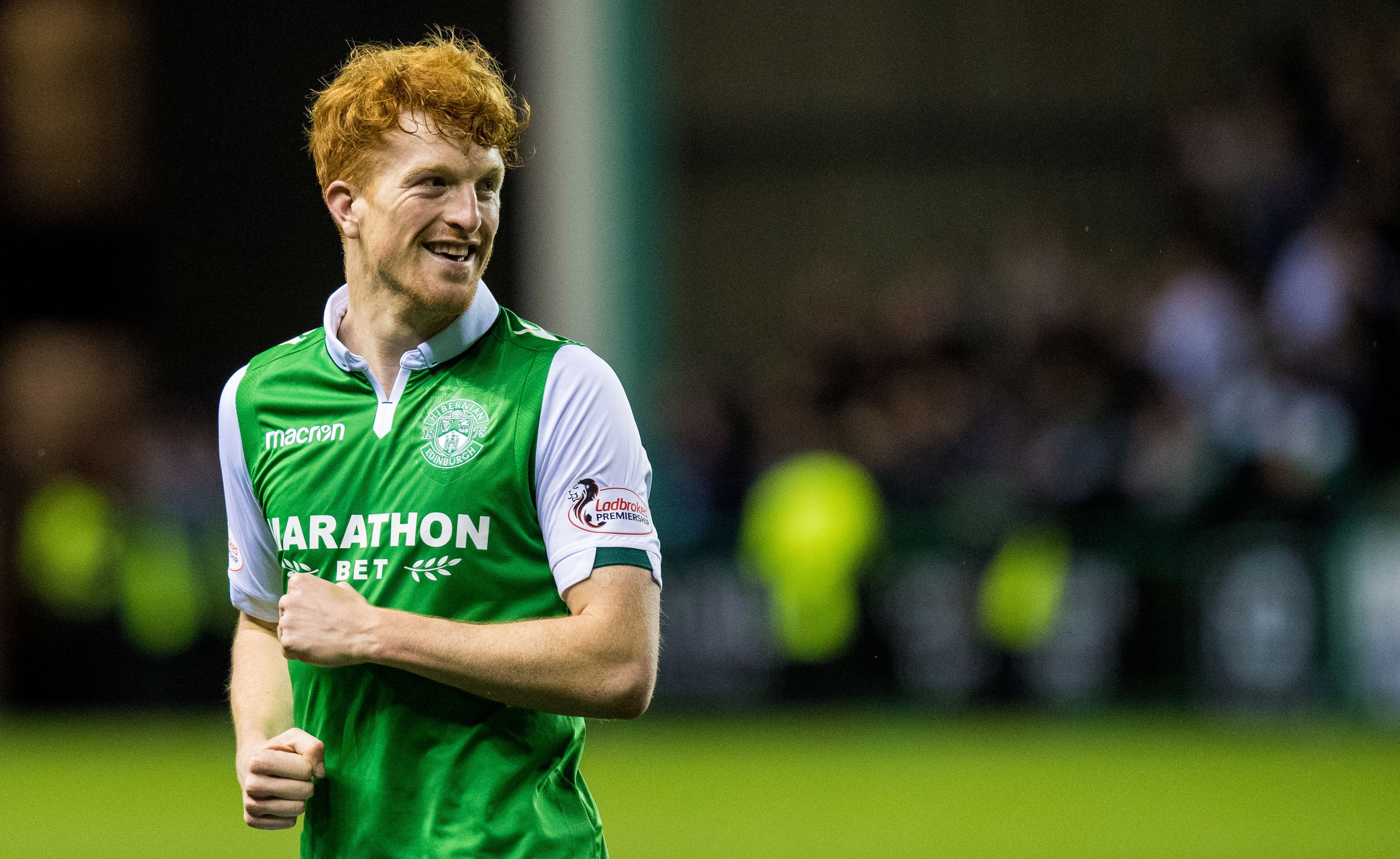 Hibs goalscorer Simon Murray (SNS Group / Ross Parker)